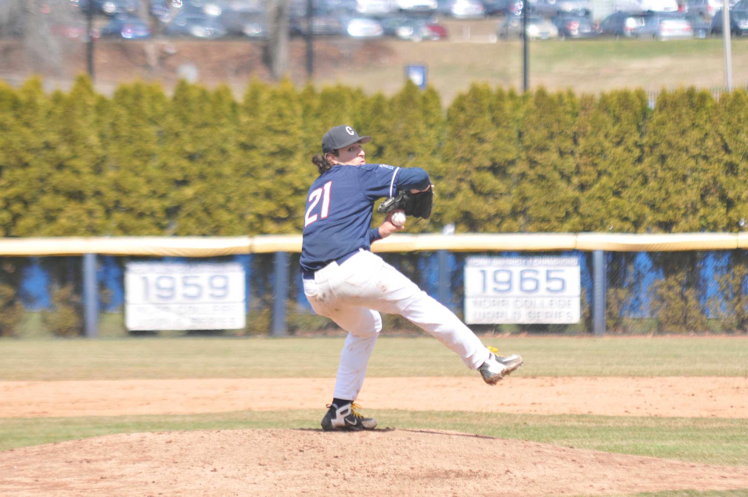 Mason Feole hasn't been the same pitcher this season that the J.O. Christian Field faithful have grown accustomed to. (File photo/The Daily Campus)