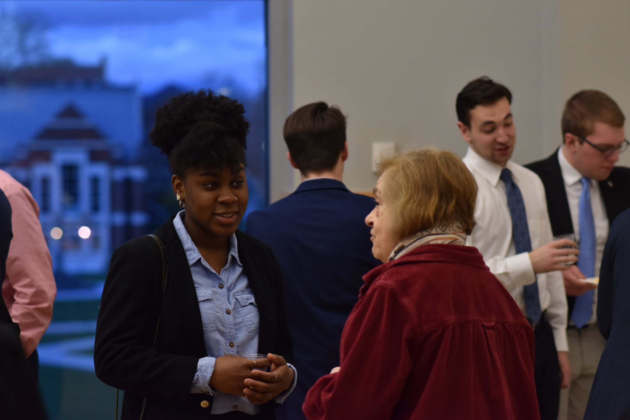 Local and state officials meet with USG members at the 2019 government reception in the Student Union on Monday. Attendees conversed and enjoyed light refreshments as they networked and built relationships. (Kevin Lindstrom/The Daily Campus)
