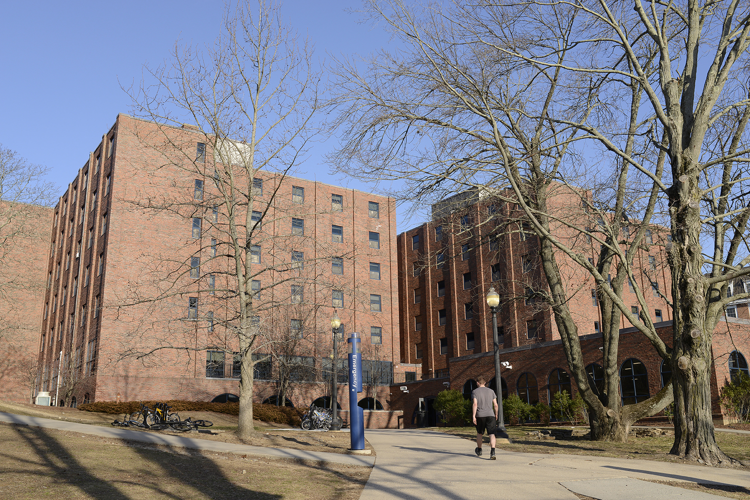 John Buckley Hall, the default freshman honors housing. (File photo/Daily Campus)