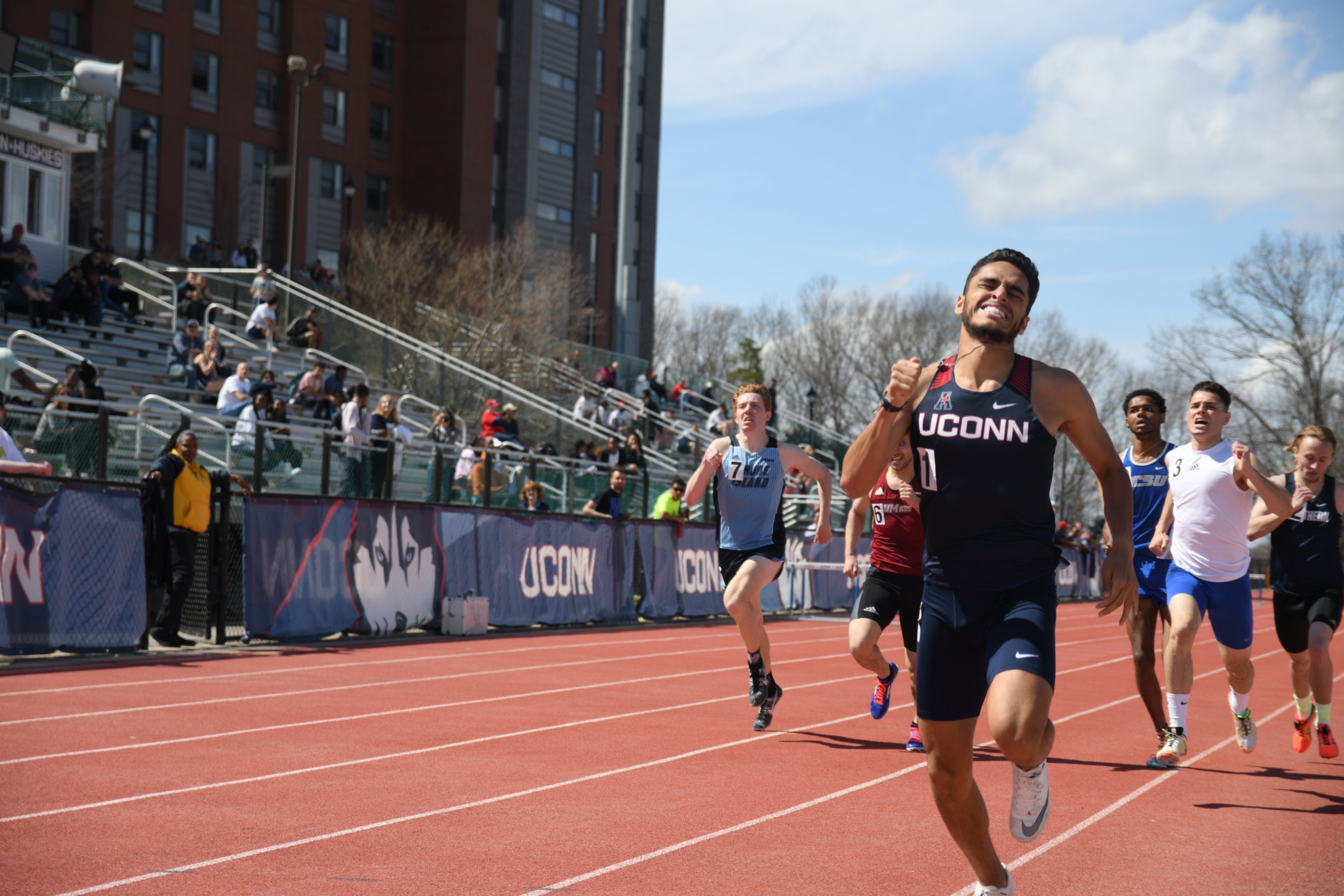 The UConn men's track and field team wrapped up the Larry Ellis Invitational with another strong performance over the weekend. (Judah Shingleton/The Daily Campus)