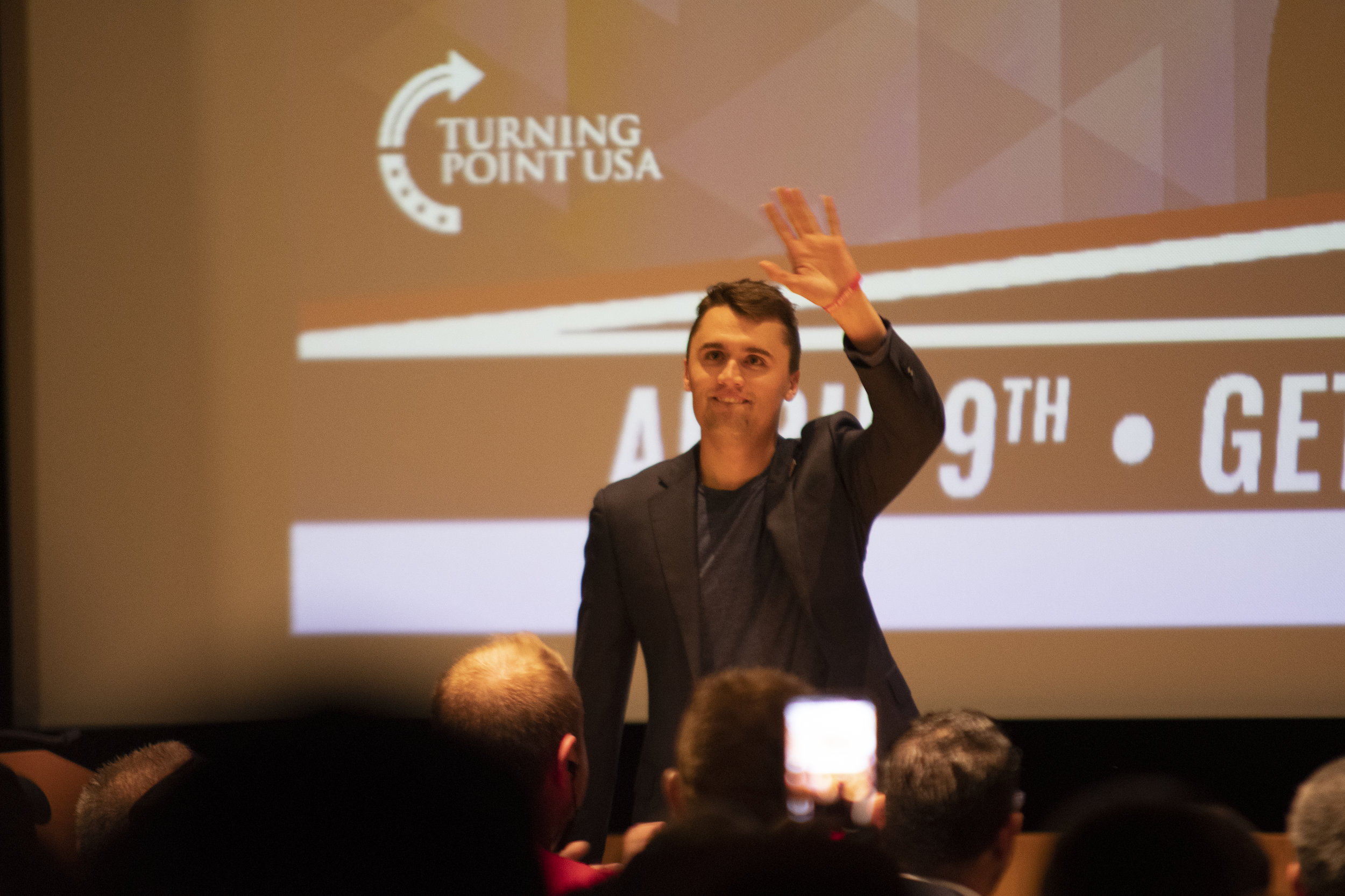 Conservative speakers Dave Rubin, Charlie Kurk and Candace Owens spoke in the Student Union Theater Tuesday night as representatives of Turning Point USA. (Nicholas Hampton/The Daily Campus)