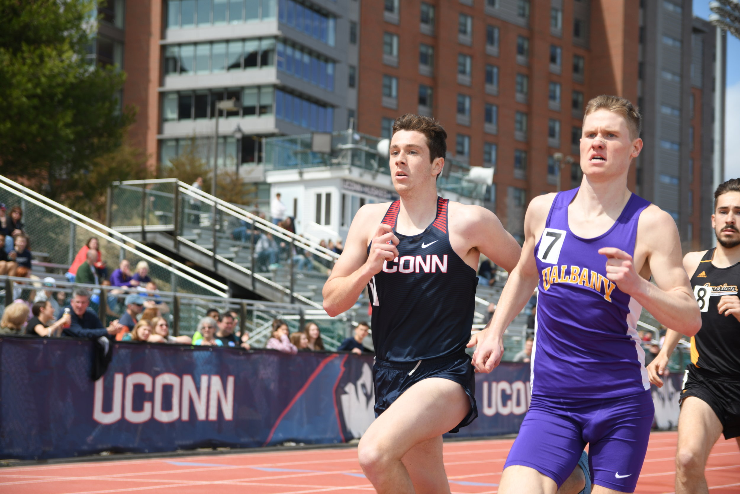 Several Huskies turned in solid performances despite some uncooperative weather throughout the competition. (Judah Shingleton/The Daily Campus)