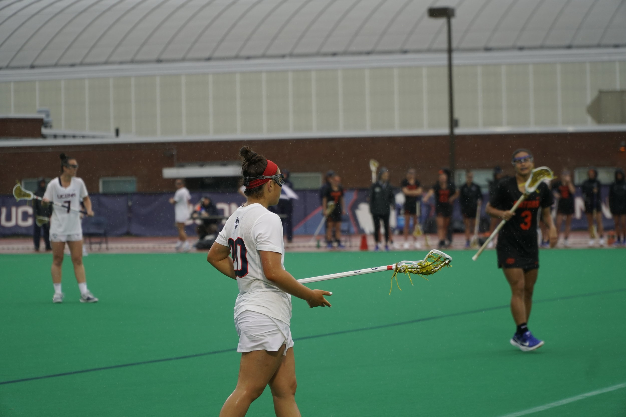 The UConn women's lacrosse team ended the season with a perfect game. (Eric Wang/The Daily Campus)