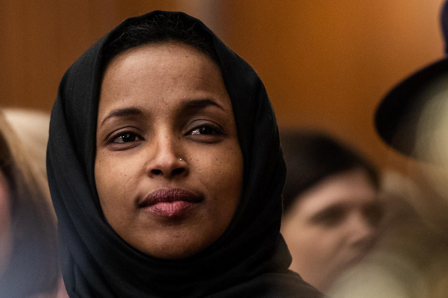 Rep. Ilhan Omar, D-Minn., is seen during an even on Capitol Hill in January. Washington Post photo by Salwan Georges.