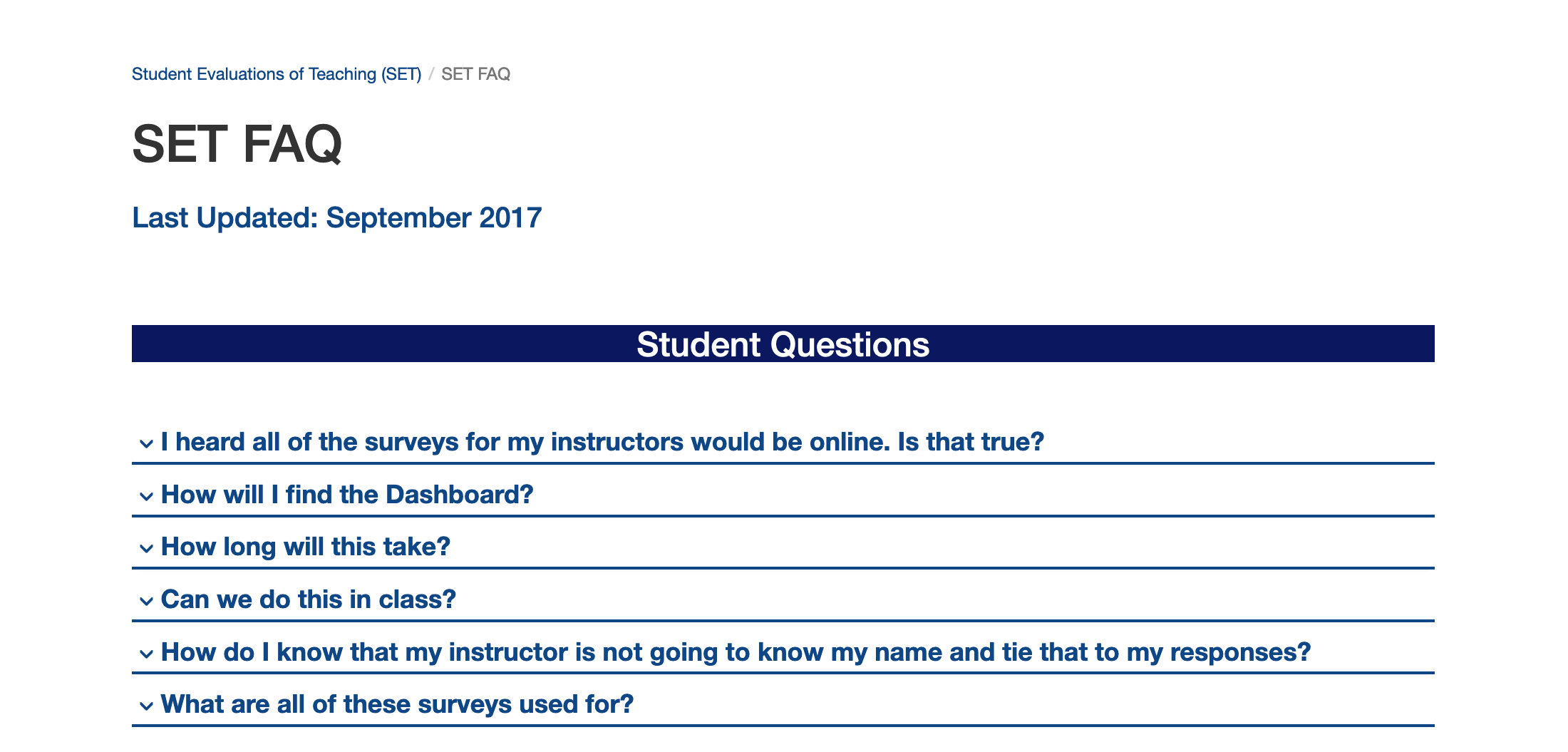 The University of Connecticut Student Evaluation of Teaching (SET) surveys are due this Friday, May 3, and student participation in them is very important, UConn spokesperson Stephanie Reitz said. (Screenshot via website)