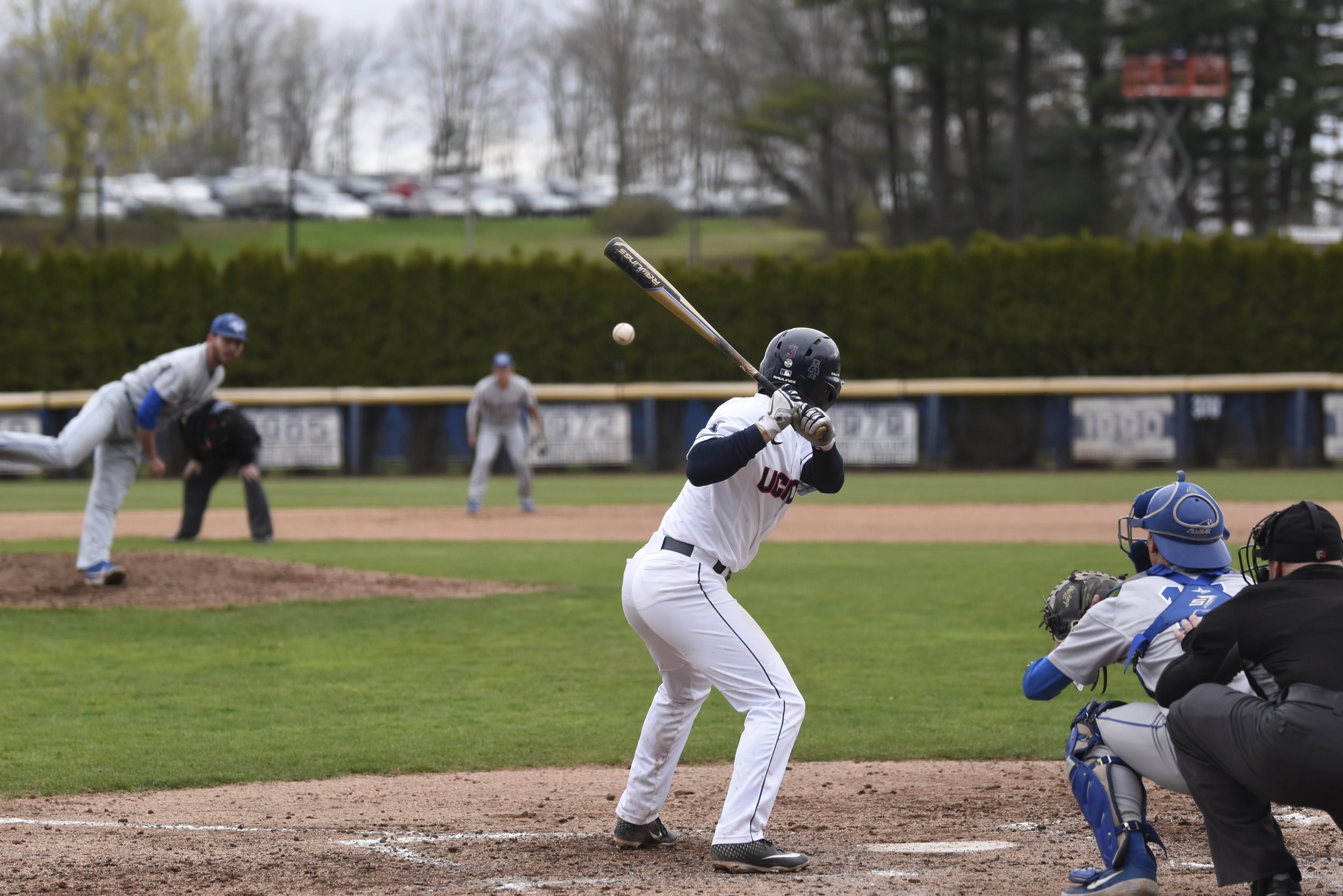 UConn Baseball takes home a 9-1 win against Central Connecticut State University. This leaves them at 27-18 for the season. (Photo by Brandon Barzola/The Daily Campus)