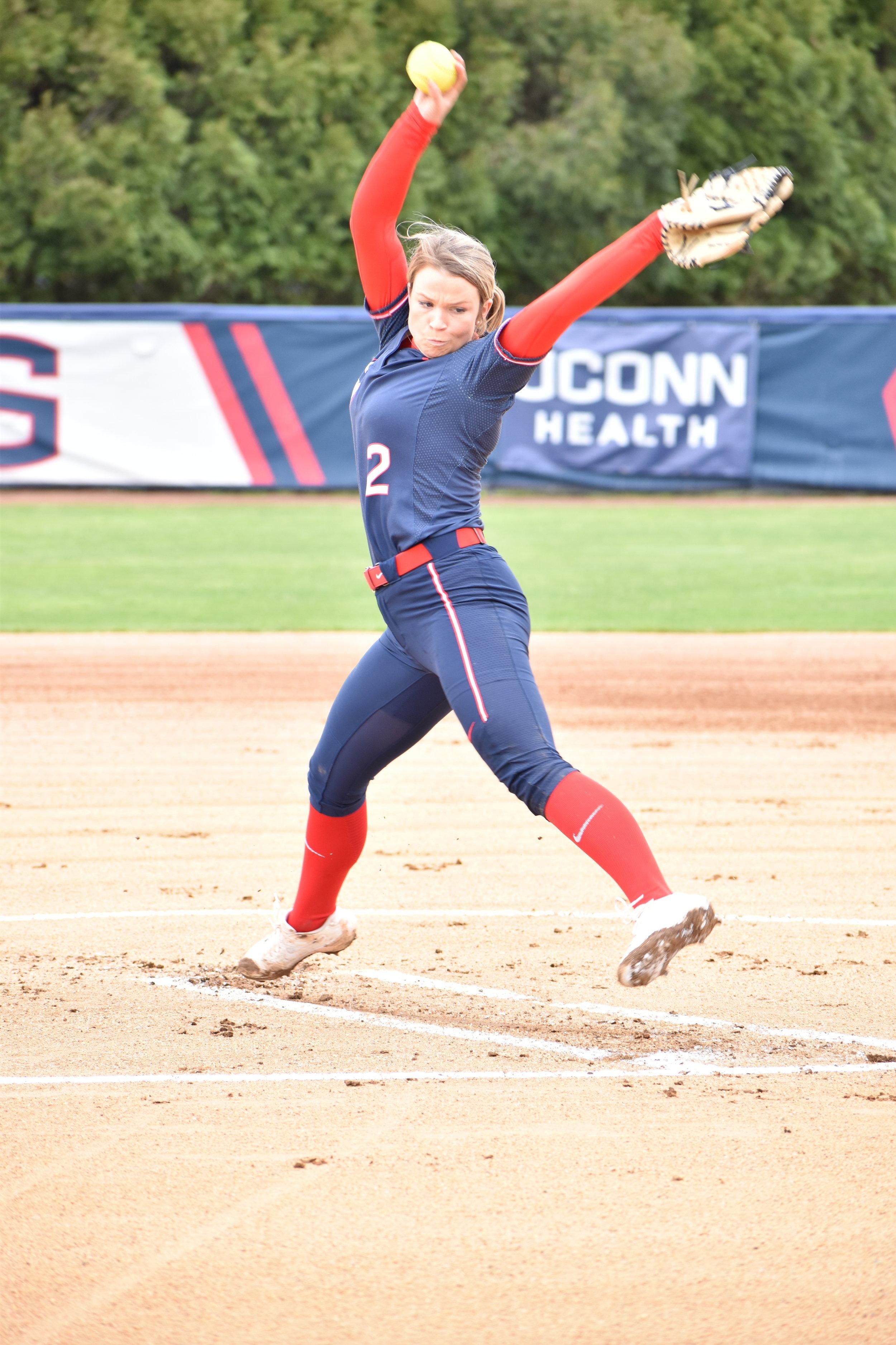 Jill Stockley UConn Softball. (Photo by Hanaisha Lewis/The Daily Campus)