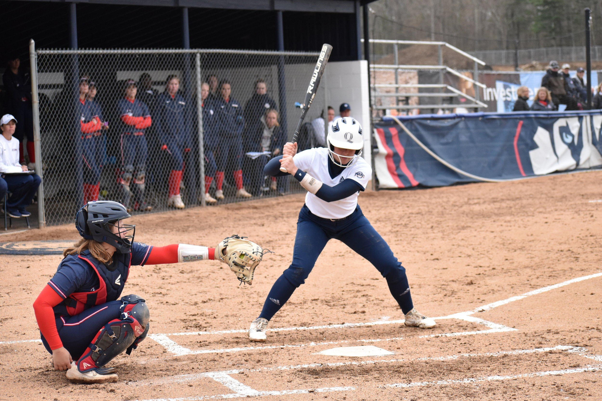 After 11 innings, UConn women's softball clenched a 2-1 win at home against the Quinnipiac Bobcats. (Photo by Hanaisha Lewis/The Daily Campus)