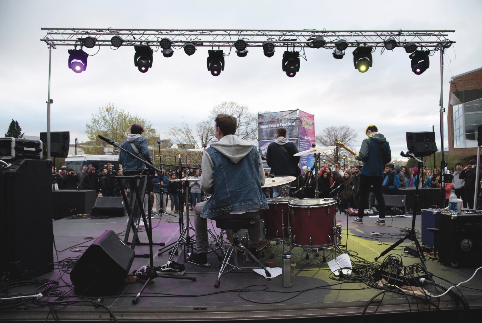 Student band Kids That Fly has already made their mark on campus with their music. (Brandon Barzola/The Daily Campus)