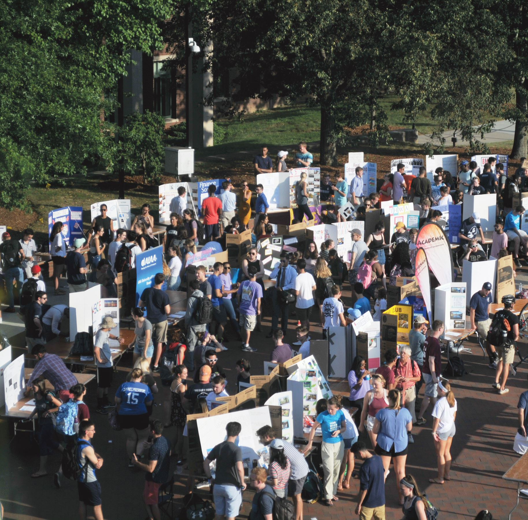 Students explore the many clubs and organizations at the September Involvement Fair.  Photo by Judah Shingleton/The Daily Campus.