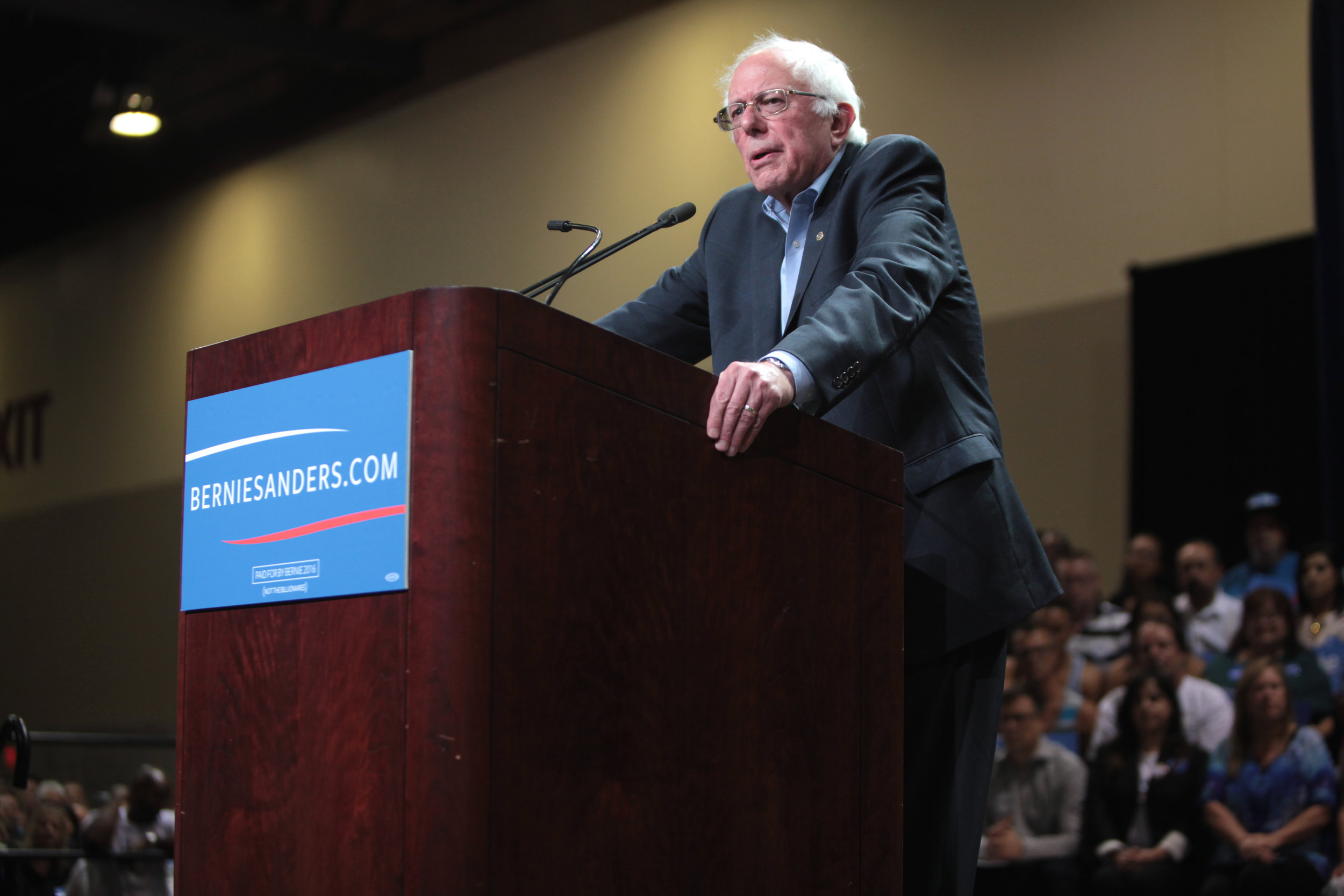 Bernie Sanders' New Deal is set to cost $16.3 trillion.  Photo by    Gage Skidmore    from Flickr creative commons