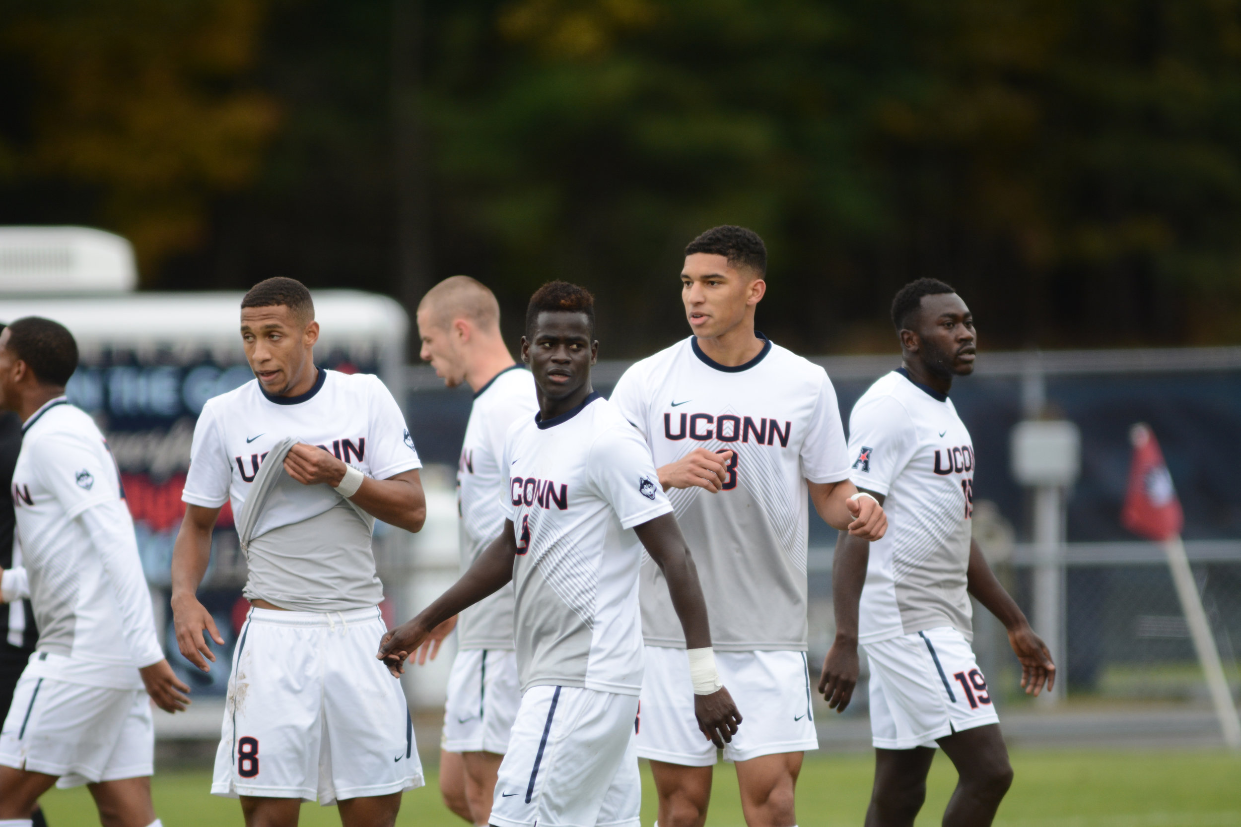 The Men's soccer team is excited to start their season this Friday night against Rider University.  Photo by Eric Wang, Staff Photographer/Daily Campus