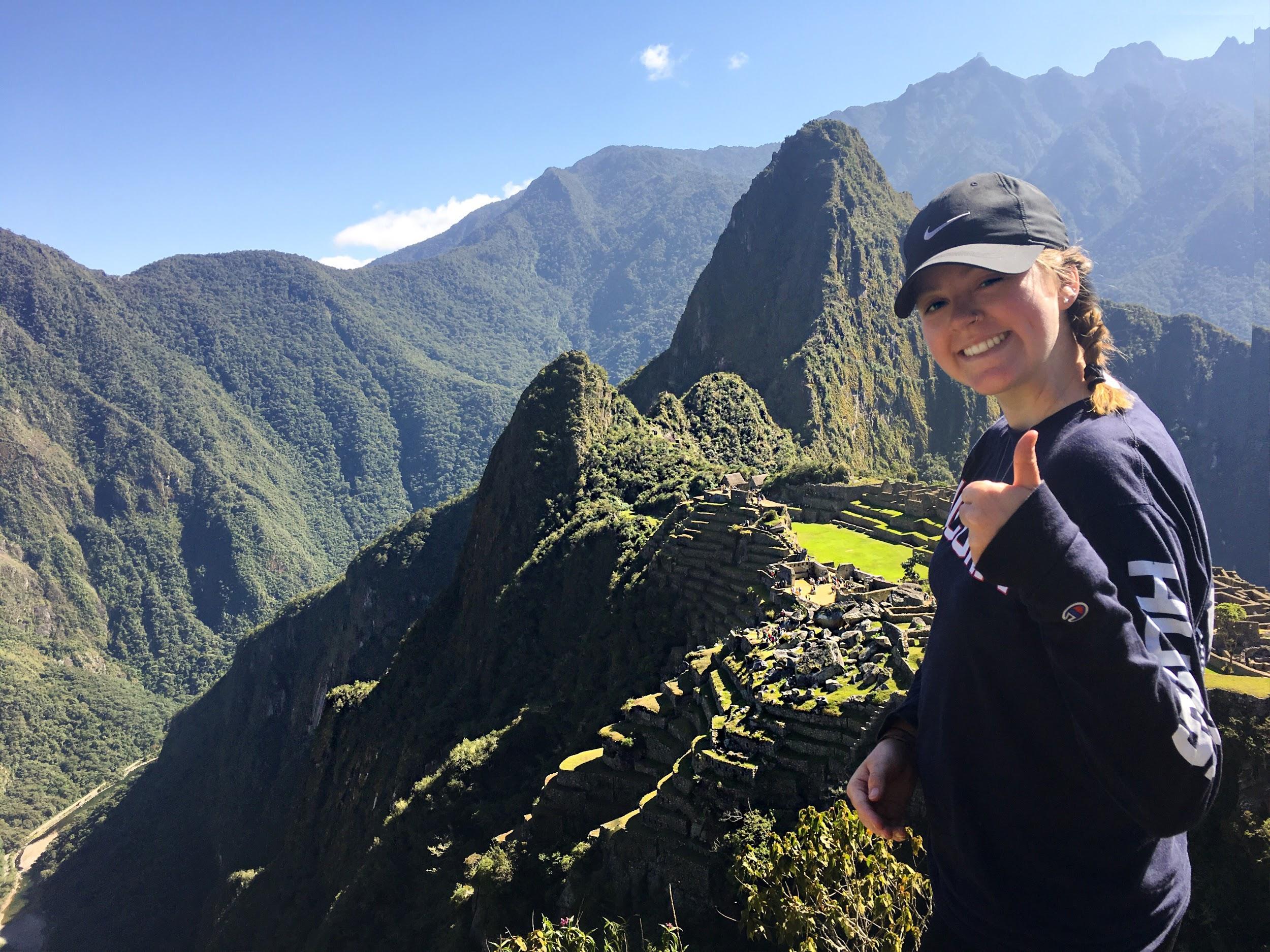 Photo by Rita Plante, Plante at the Machu Picchu Ruins in 2018