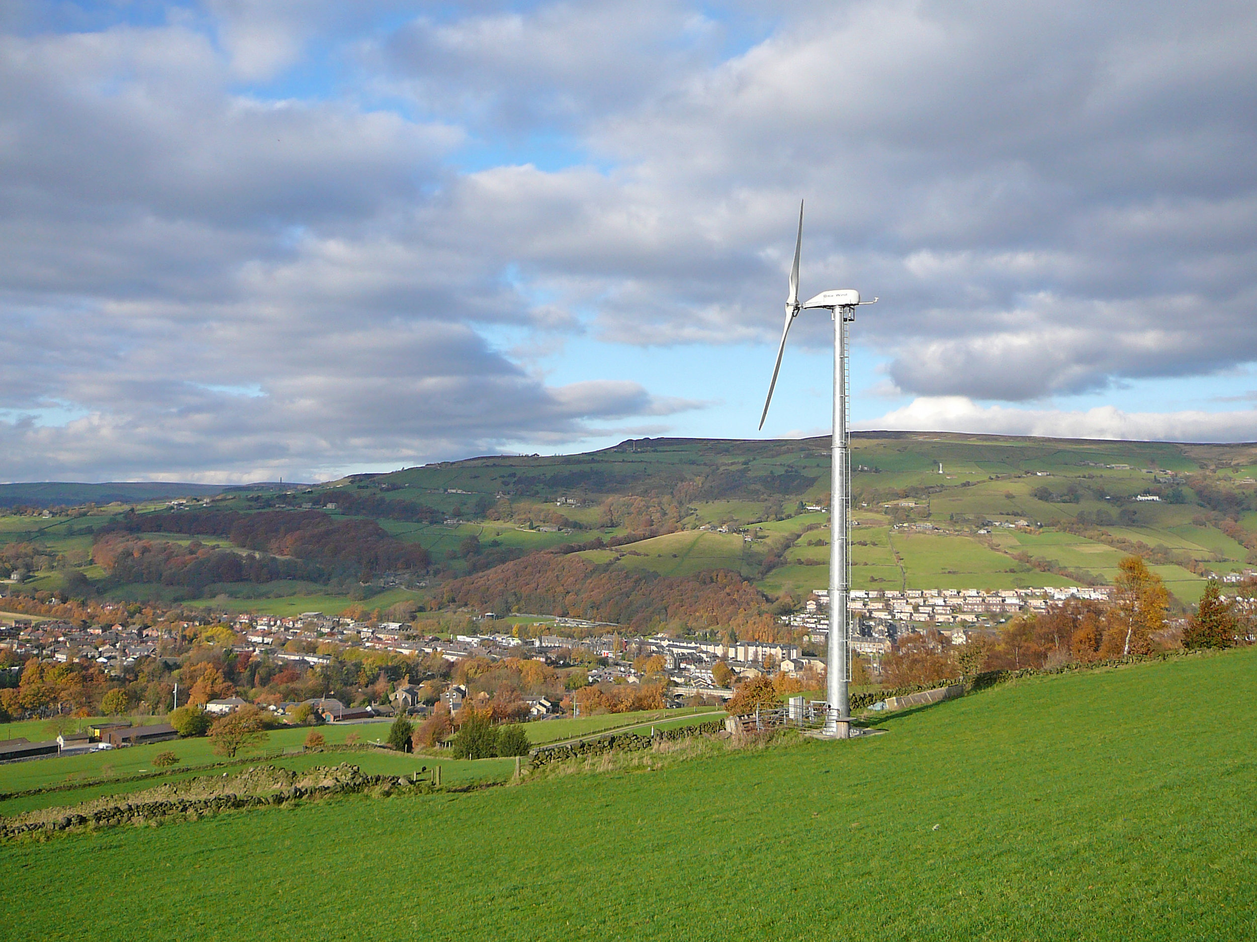 A wind turbine operating in Germany. Despite their ambitious goals, emissions have risen in Germany.  Photo by Tim Green from Flickr Creative Commons