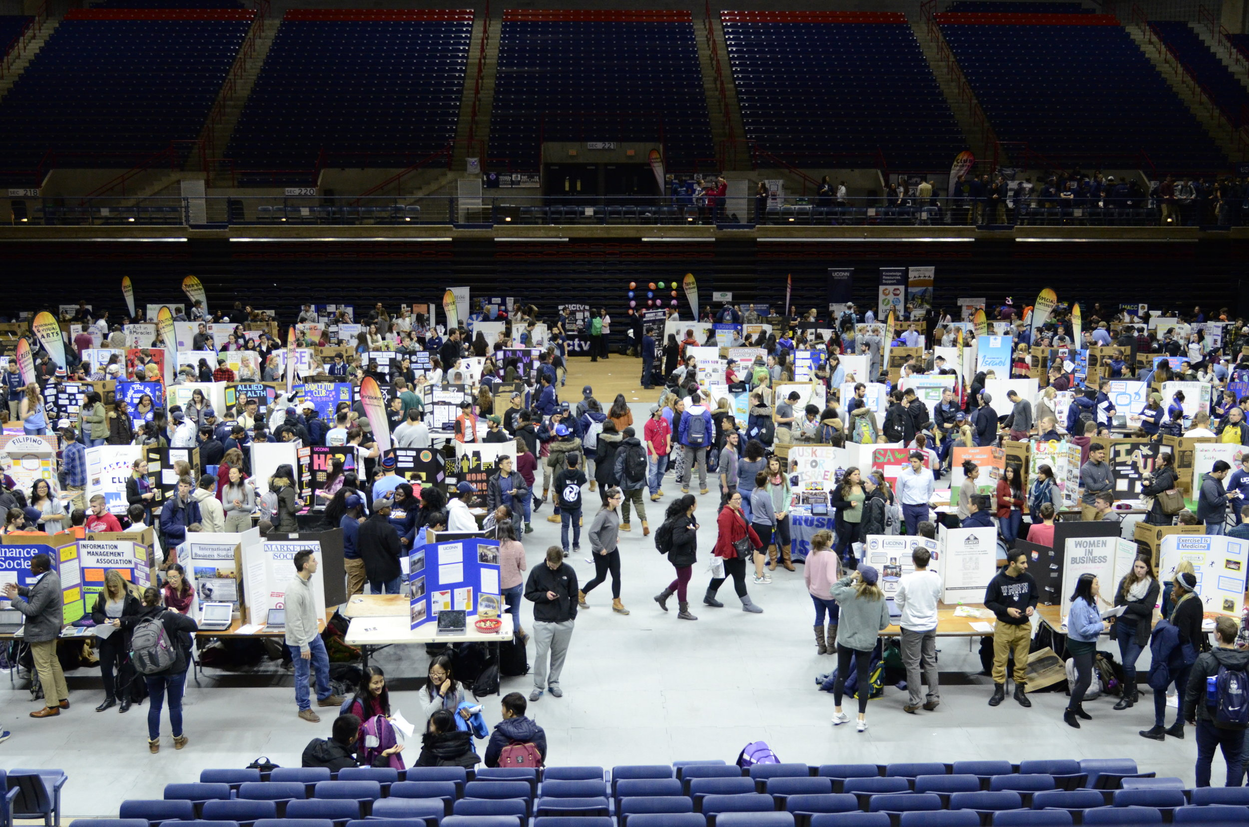 The Involvement Fair happens at the beginning of every semester and gives a platform for UConn's 700+ clubs to table. Getting involved on campus is immensely important, so go!  Photo by Charlotte Lao/The Daily Campus