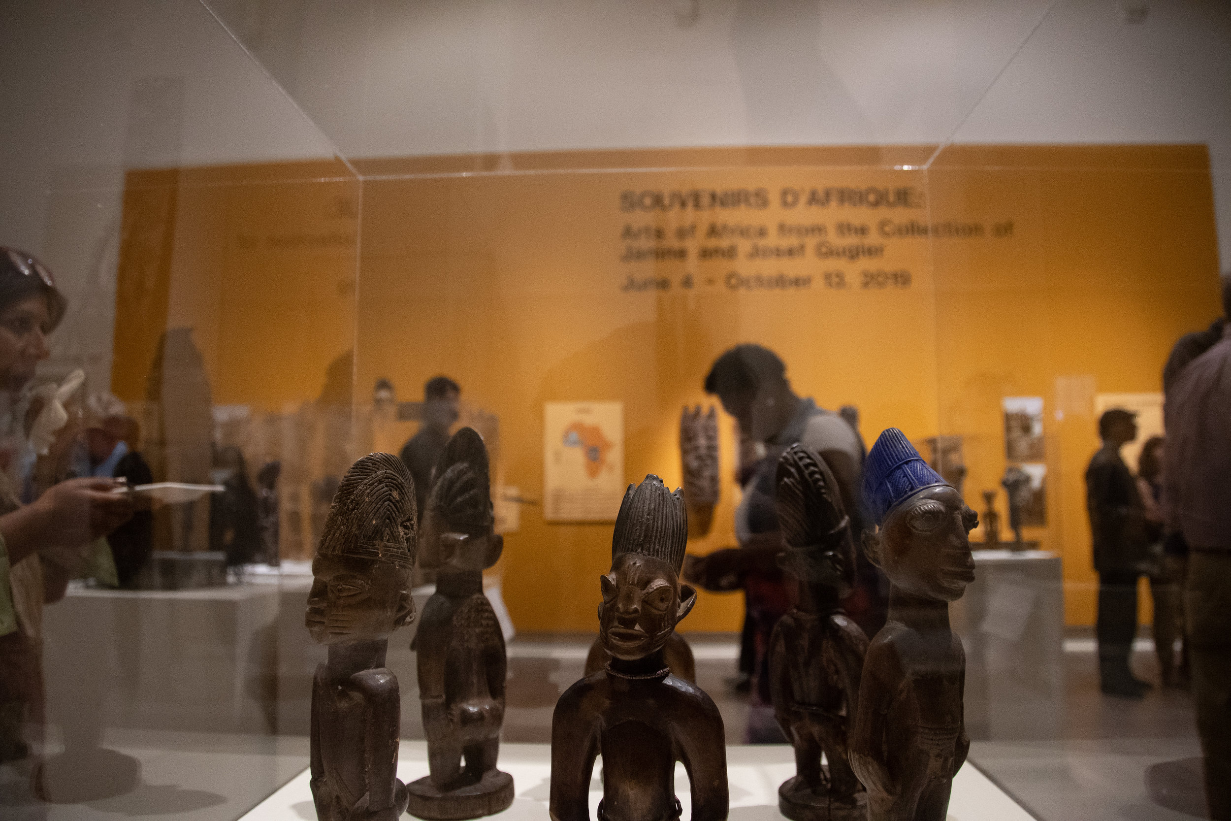 """The Benton's latest two exhibitions are titled """"Souvenirs D'Afrique: Arts of Africa from the Collection of Janine and Josef Gugler"""" and """"The Lure of Cuba: Reginald Marsh's Tropical Watercolors, 1924-1930.""""  Photos by Avery Bikerman/The Daily Campus"""
