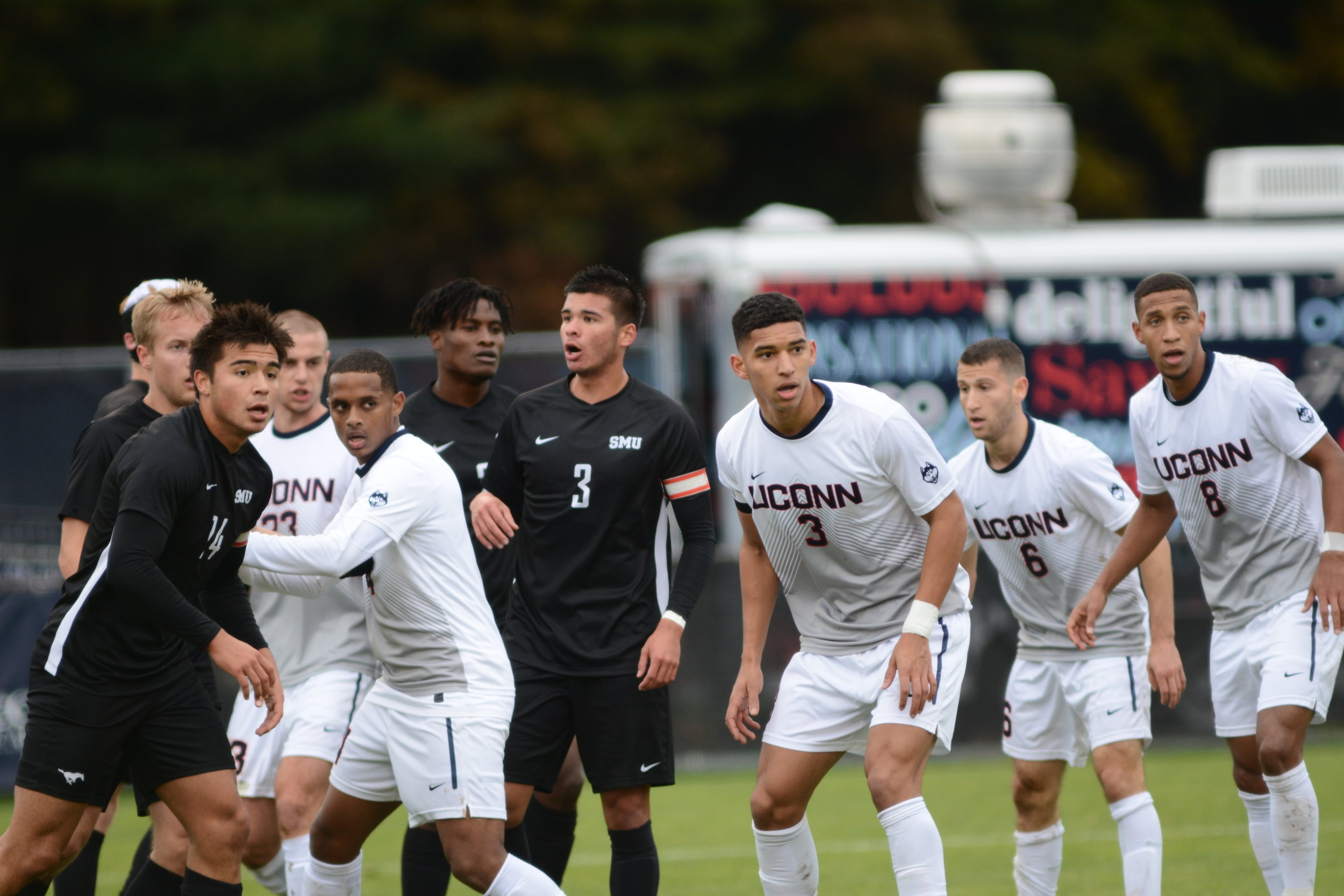 The No. 23 UConn men's soccer team is headed back to Hartford to face off against Fairleigh Dickinson University this Friday.  Photo by Eric Wang, Senior Staff Photographer/Daily Campus