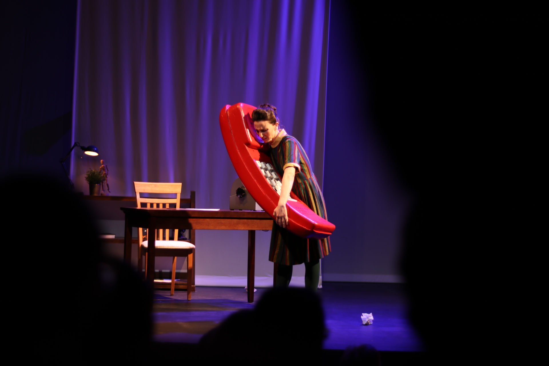 """An art-science performance called """"The Colony"""" is put on in The Studio Theatre on Friday night.  Photo by Maggie Chafouleas for The Daily Campus."""