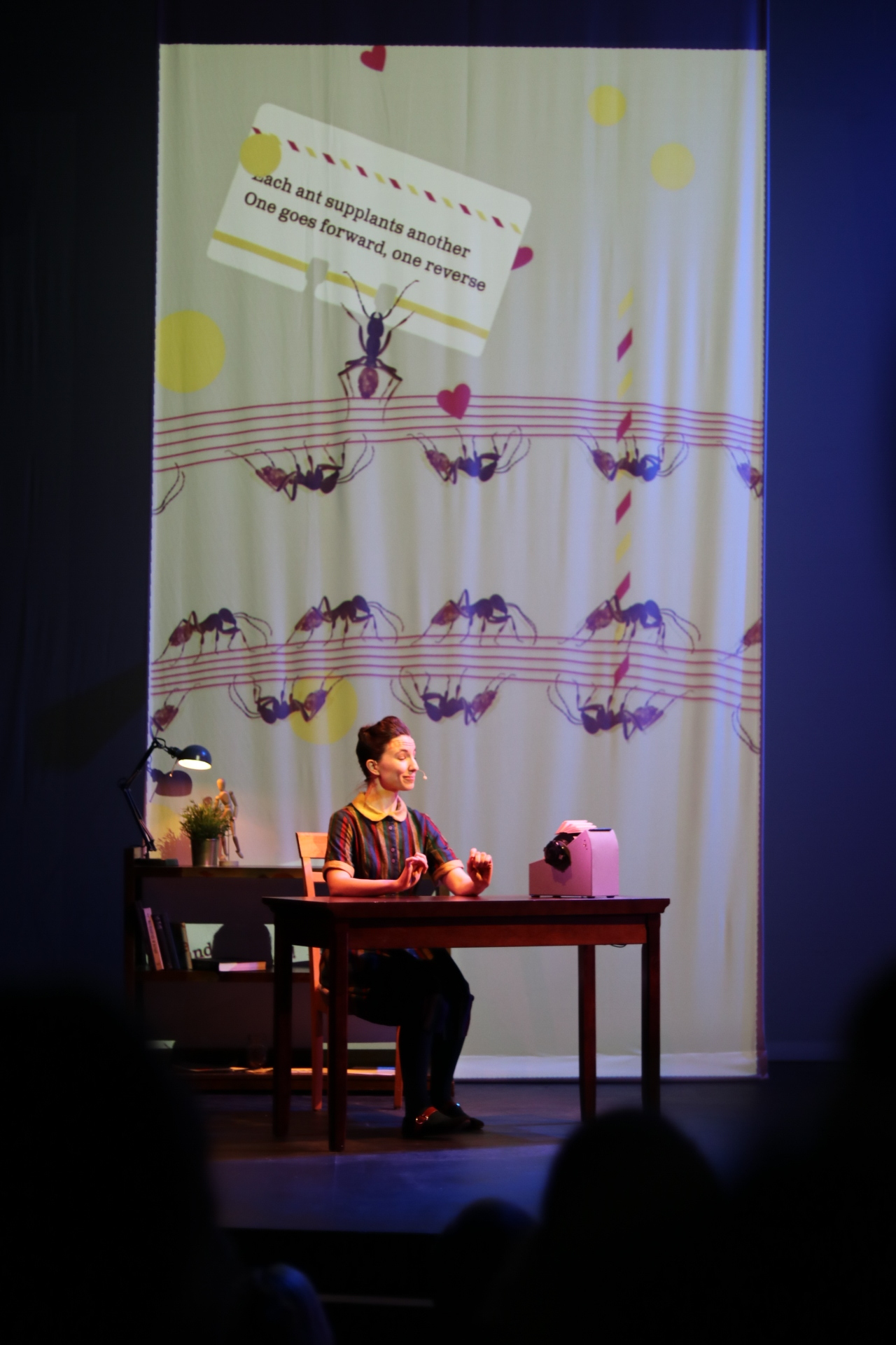 The show was created by assistant professor of digital media and design, Anna Lindemann, who was inspired by the similarities in social lives of humans and ants.  Photo by Maggie Chafouleas for The Daily Campus.