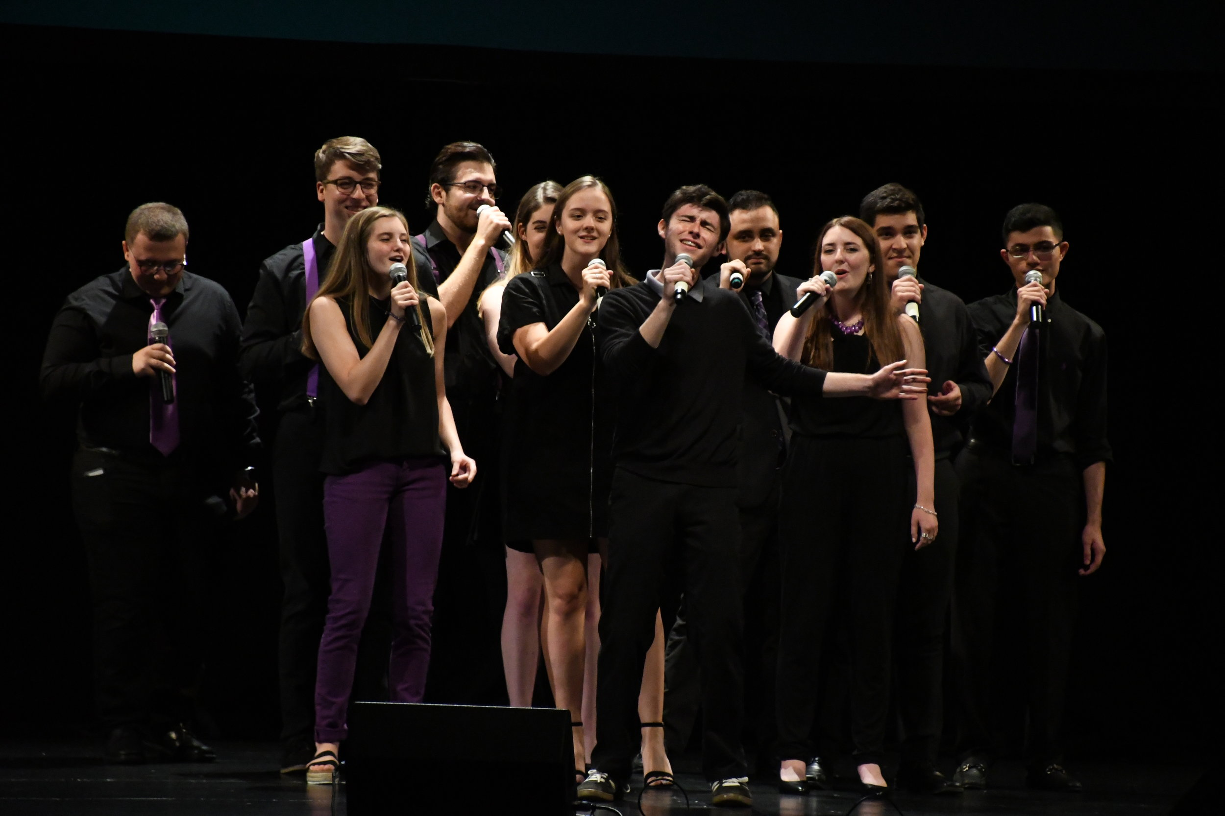 Notes Over Storrs performed 'Mine' by Bazzi and 'The Chain' by Fleetwood Mac at the concert on Friday.   Photo by Julie Spillane for The Daily Campus.