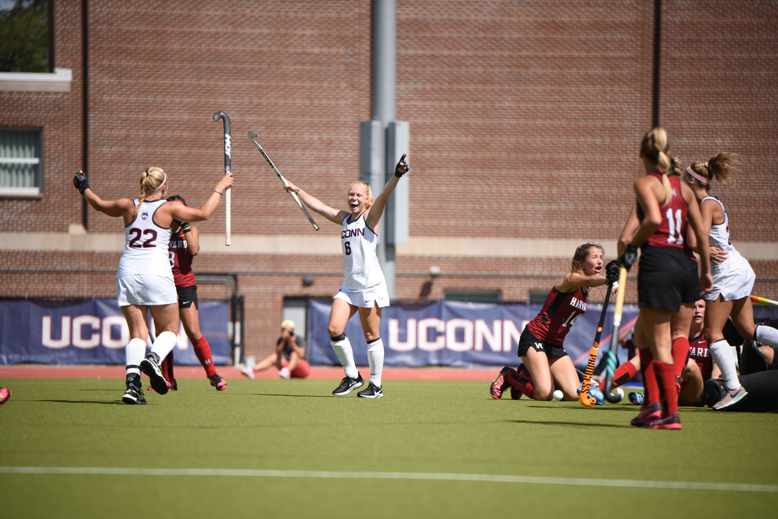 It's been a phenomenal start for the UConn field hockey team, following up last weekend's 2-0 performance in Stanford with two more ranked wins in Storrs this weekend against No. 19 Rutgers and No. 6 Harvard.  Photo by Charlotte Lao, Photo Editor / The Daily Campus.