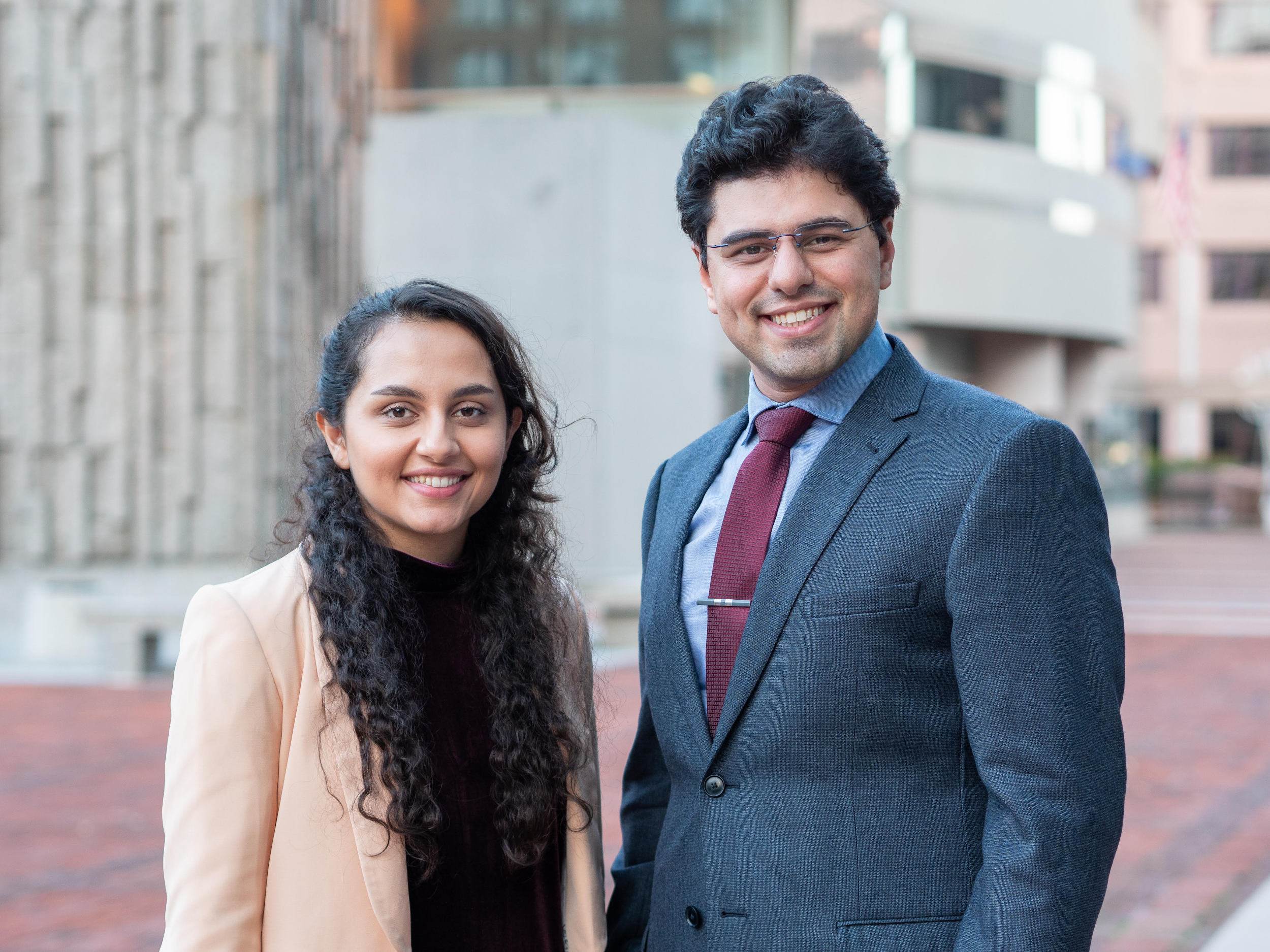 UConn's very own Ph.D. candidates Tahmasbi and Daneshmandi created a tissue-on-a-chip Encapsulate that can potentially speed up cancer therapy.  Photo taken by Evan Olson/Provided by Daneshmandi