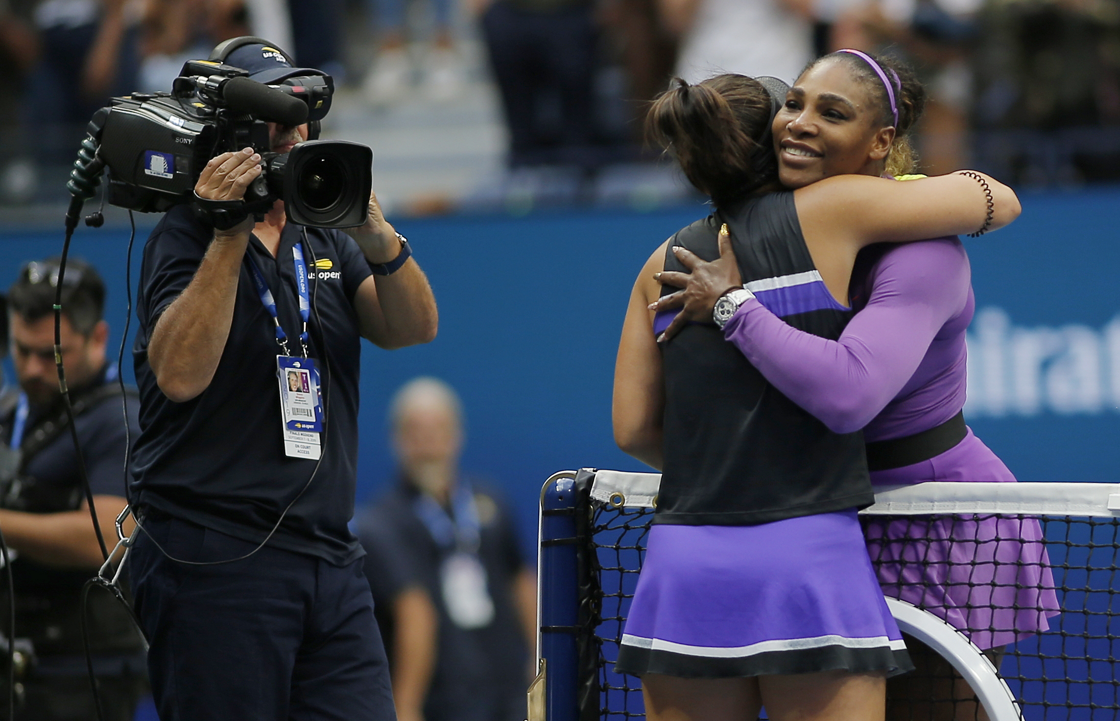 Serena Williams was not able to capture her 24th Grand Slam, losing to Bainca Andreescu in straight sets in the US Open final.  Photo by The Associated Press.
