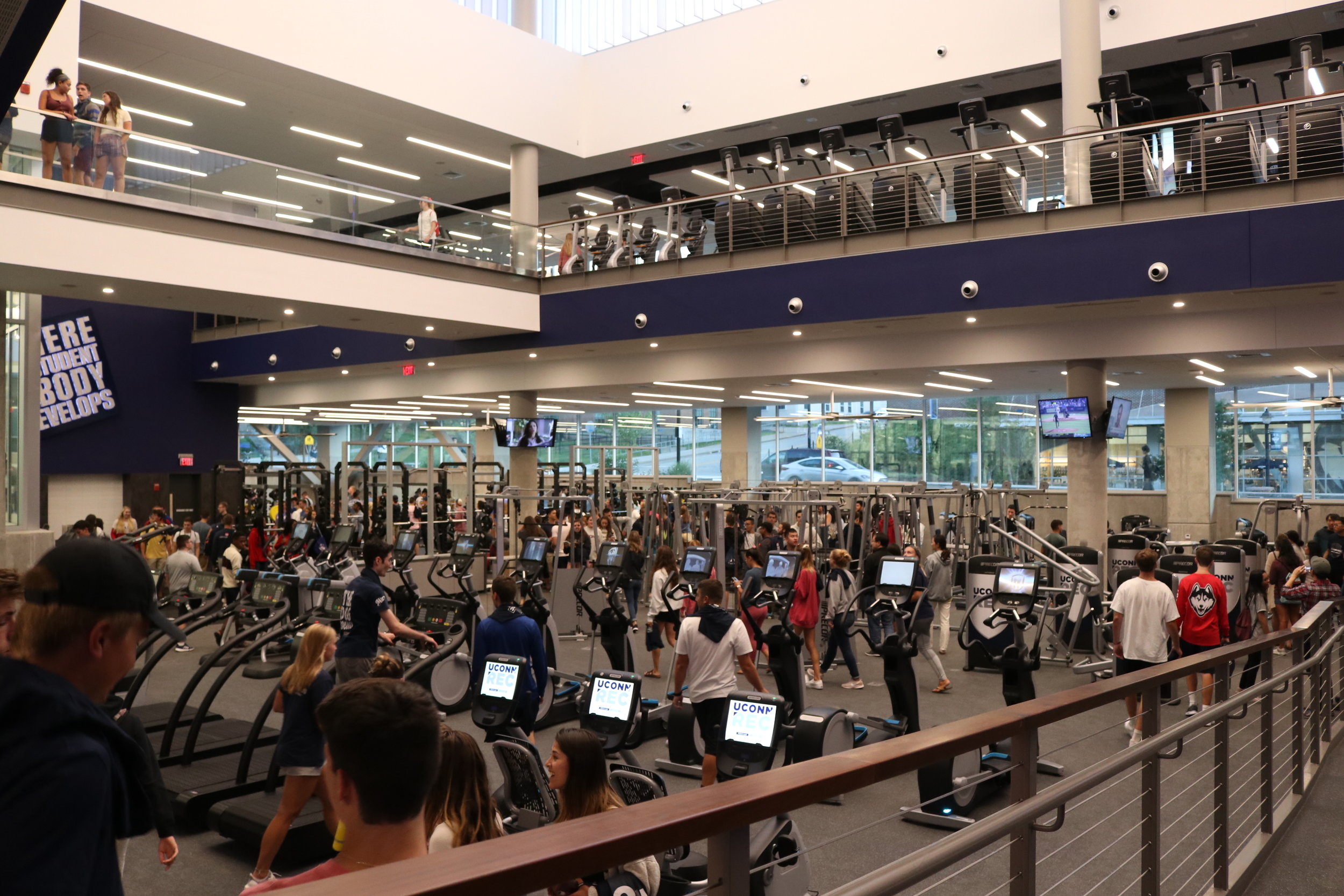 All students, regardless of how many credits they are taking, must pay the Rec Center fee of $250 per semester, according to University Communications.  Photo by Maggie Chafouleas / The Daily Campus