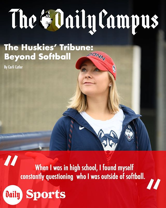 When I was in high school, I found myself constantly questioning who I was outside of softball.  Read the second installment of the Husky Tribune series at dailycampus.com/sports
