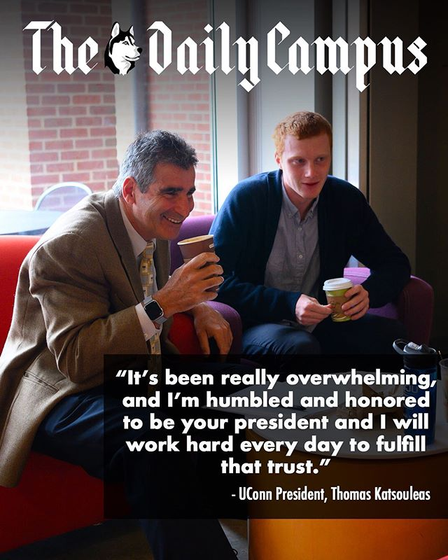 The Daily Campus sat down with University of Connecticut President Thomas Katsouleas yesterday to talk about his plans for UConn and his impressions so far. Read more on this consequential interview at dailycampus.com/news