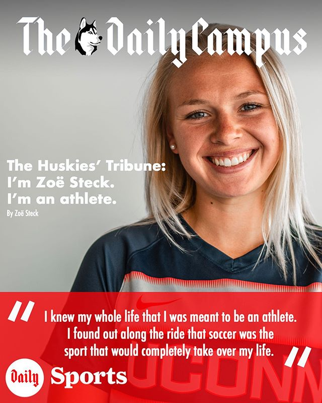 The third edition of the Husky Tribune highlights Zoë Steck, and her journey through UConn as both a student and Women's soccer player. Read more at dailycampus.com/sports