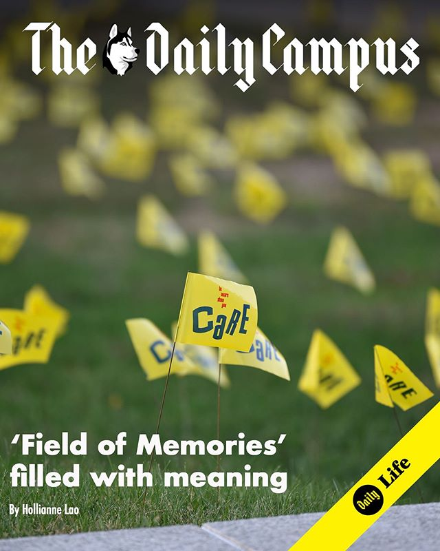 When you've walked by the Student Union this week, you might have noticed the small yellow flags peppering the front lawn. With 1,100 flags, each one represents a college student's death by suicide. Read more at dailycampus.com/life