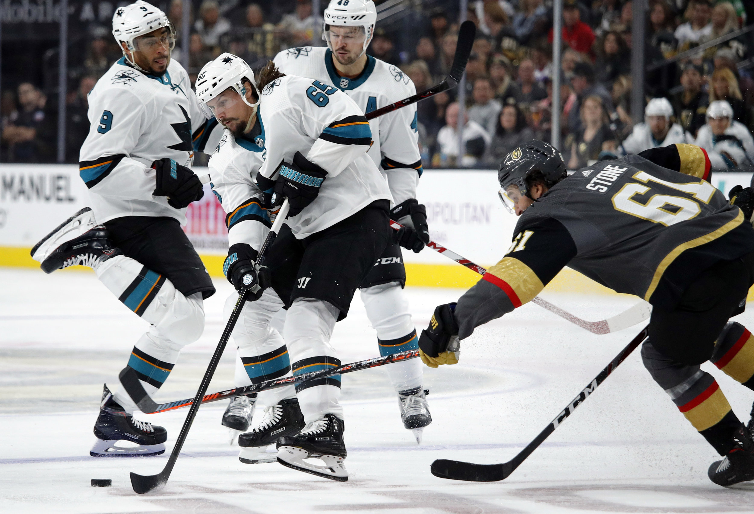 The San Jose Sharks continuously have high expectations entering the NHL and have continuously disappointed, leaving many to questions whether it is time to abandon the current plan.  Photo from The Associated Press.