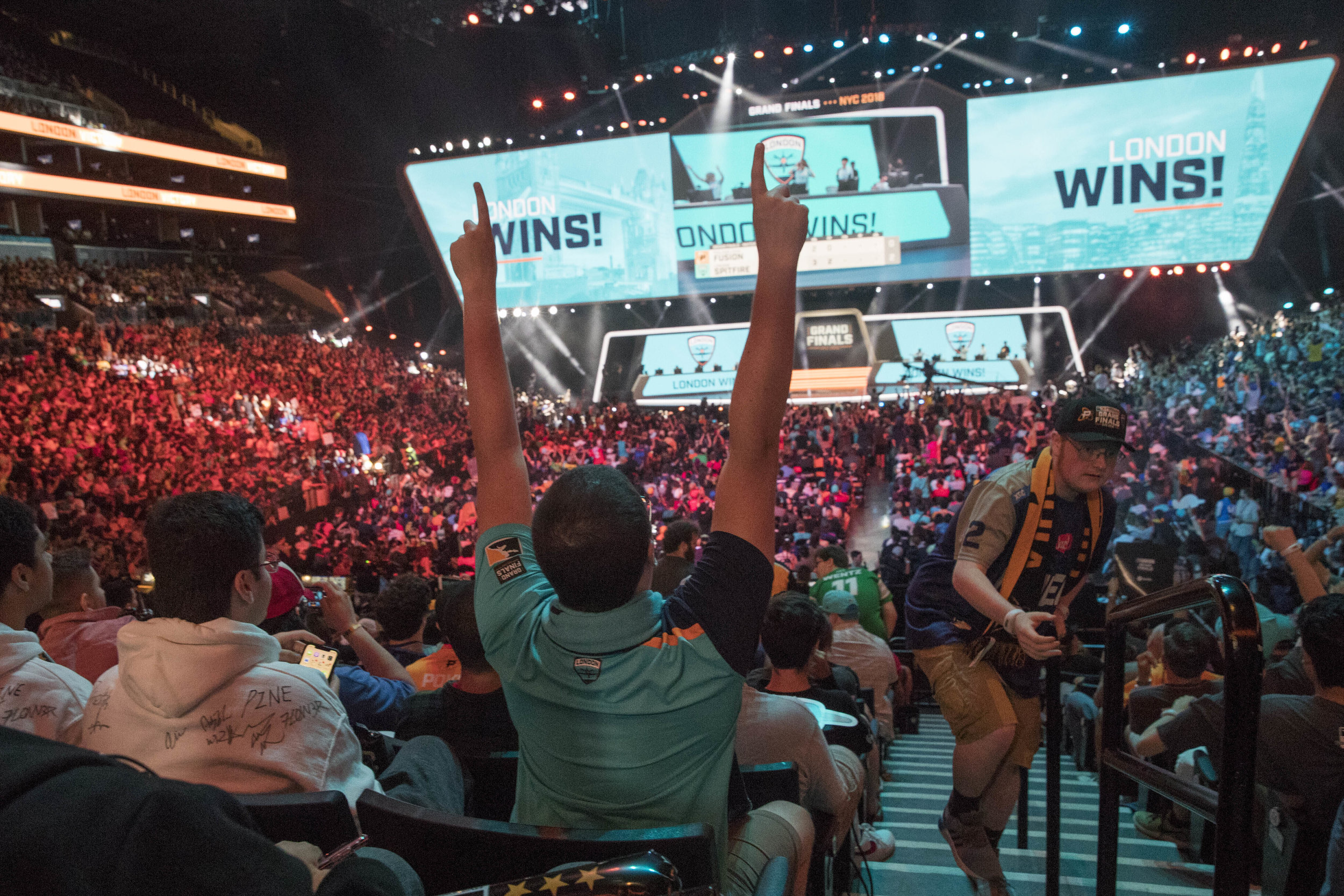 The San Francisco Shock electrified the E-sports scene when they beat the favorited Vancouver Titans in the finals of the Overwatch League Grand Finals.  Photo from The Associated Press.