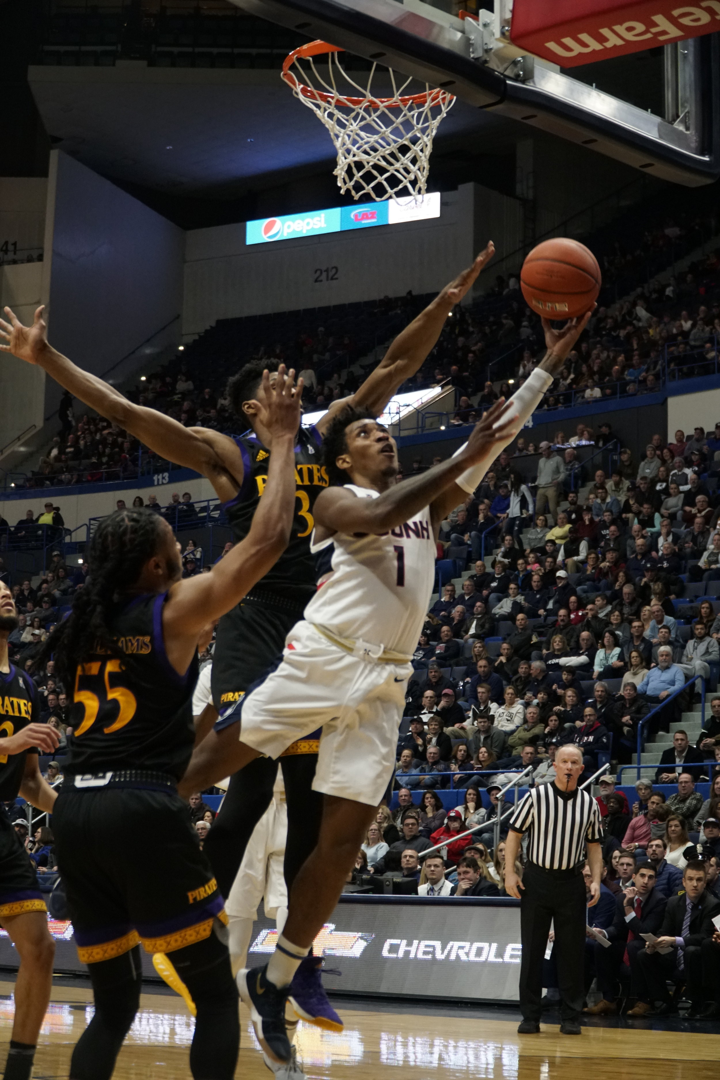 UConn's back court tandem of Christian Vitale and Alterique Gilbert have grown together in this program and are poised for a strong year.  Photo by Eric Wang / The Daily Campus.