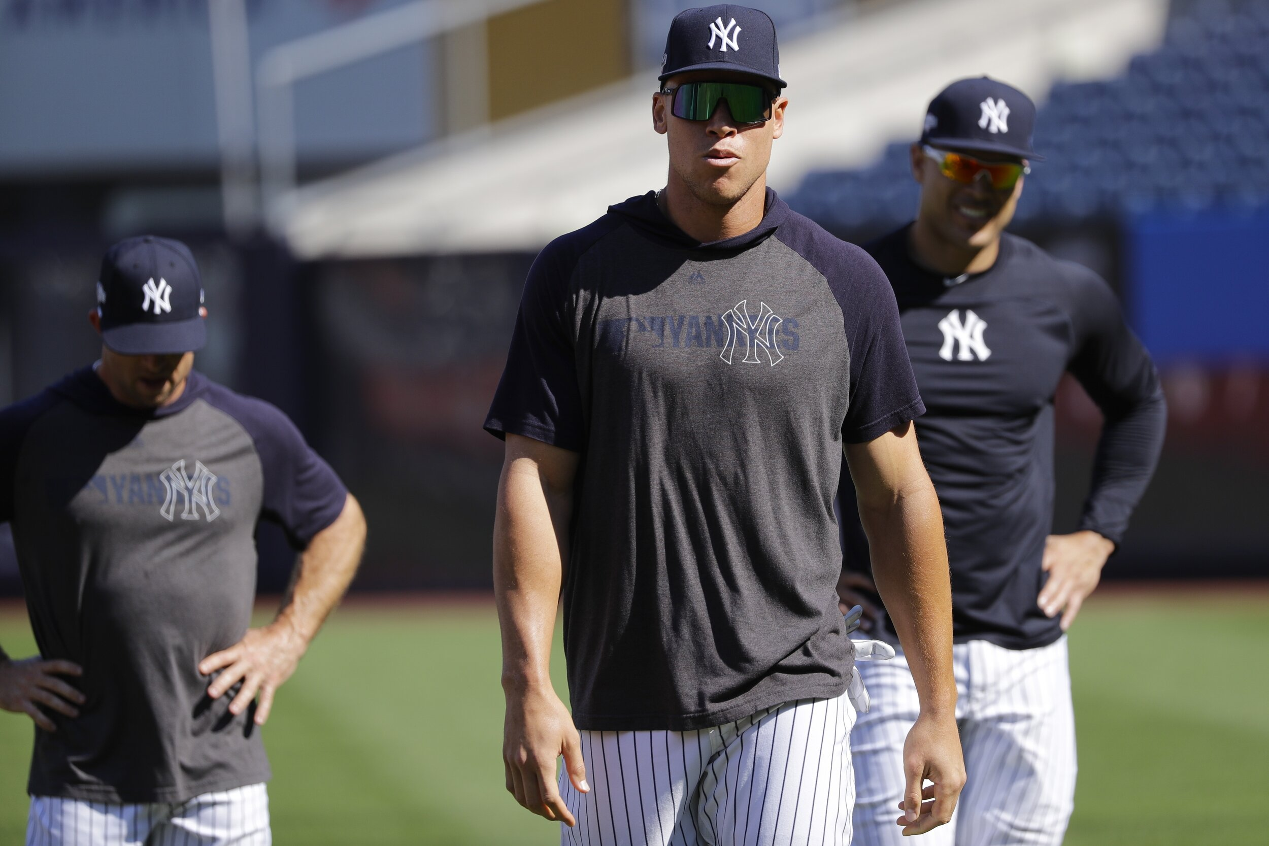 The Yankees racked up 103 wins, good enough for second best in the American League despite facing numerous injuries. Now with many of those players back and healthy, expectations are high for the post season, some fans saying championship or bust.  Photo from The Associated Press.