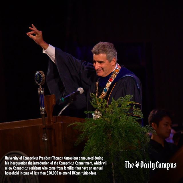 Read more on the inauguration of UConn's 16th president and the Connecticut Commitment at dailycampus.com/news