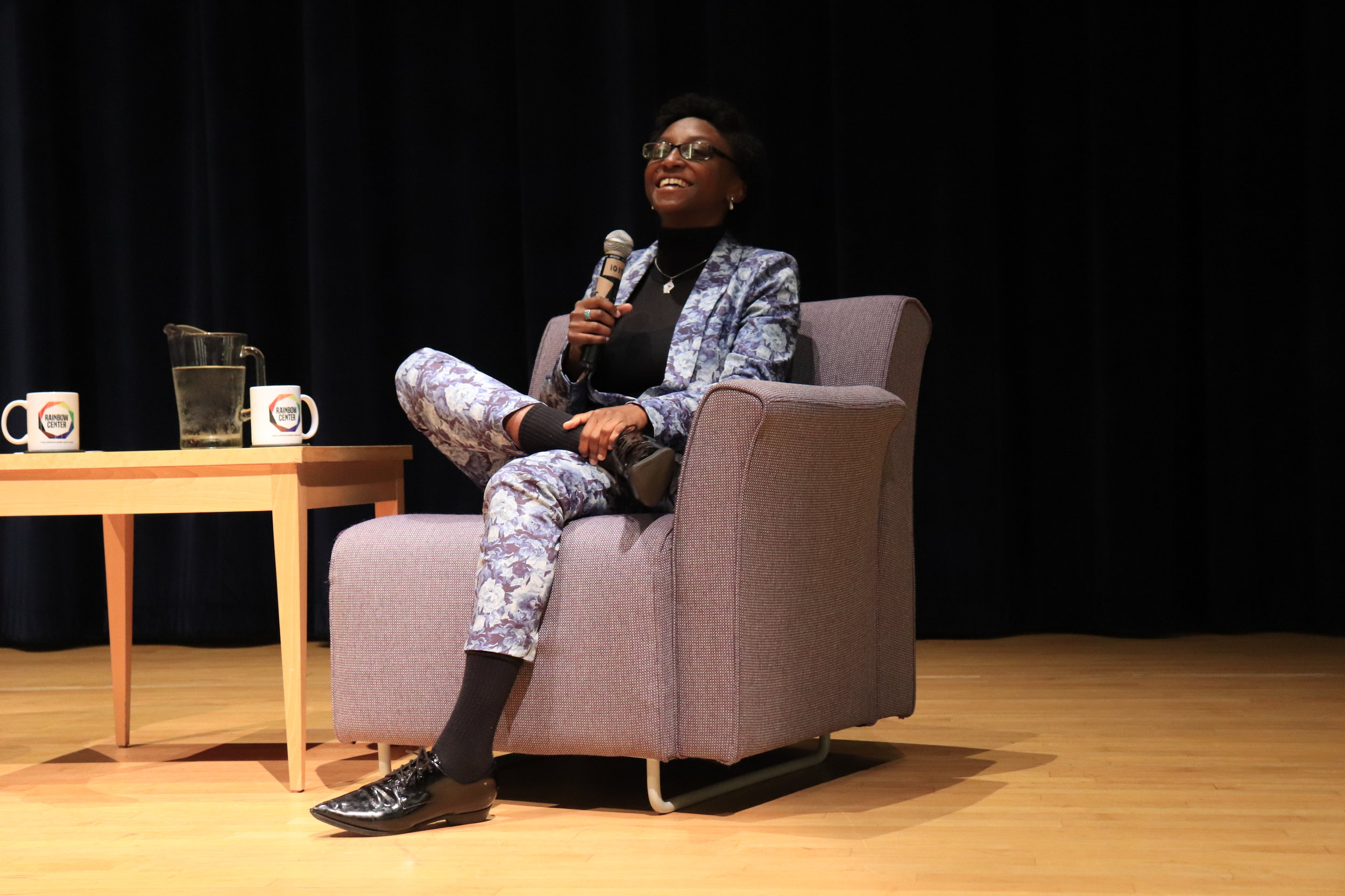 "Jess Guilbeaux, from season 3 of Netflix's Queer Eye, talks about her life before, during, and after starring on the show. Guilbeaux touched upon her life in drag and how she came to embrace her identity as a ""strong black lesbian woman"".  Photo by Erin Knapp/The Daily Campus"