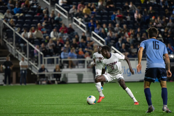 UConn Men's Soccer suffers a hard fought 2-3 defeat to Columbia on Sept. 20. The team has made a comeback with its 3-2 win in overtime against Cleveland State, Cincinnati (4-7-1) lost 2-0 at home to UConn on Saturday.  Photo by Kevin Lindstrom / The Daily Campus
