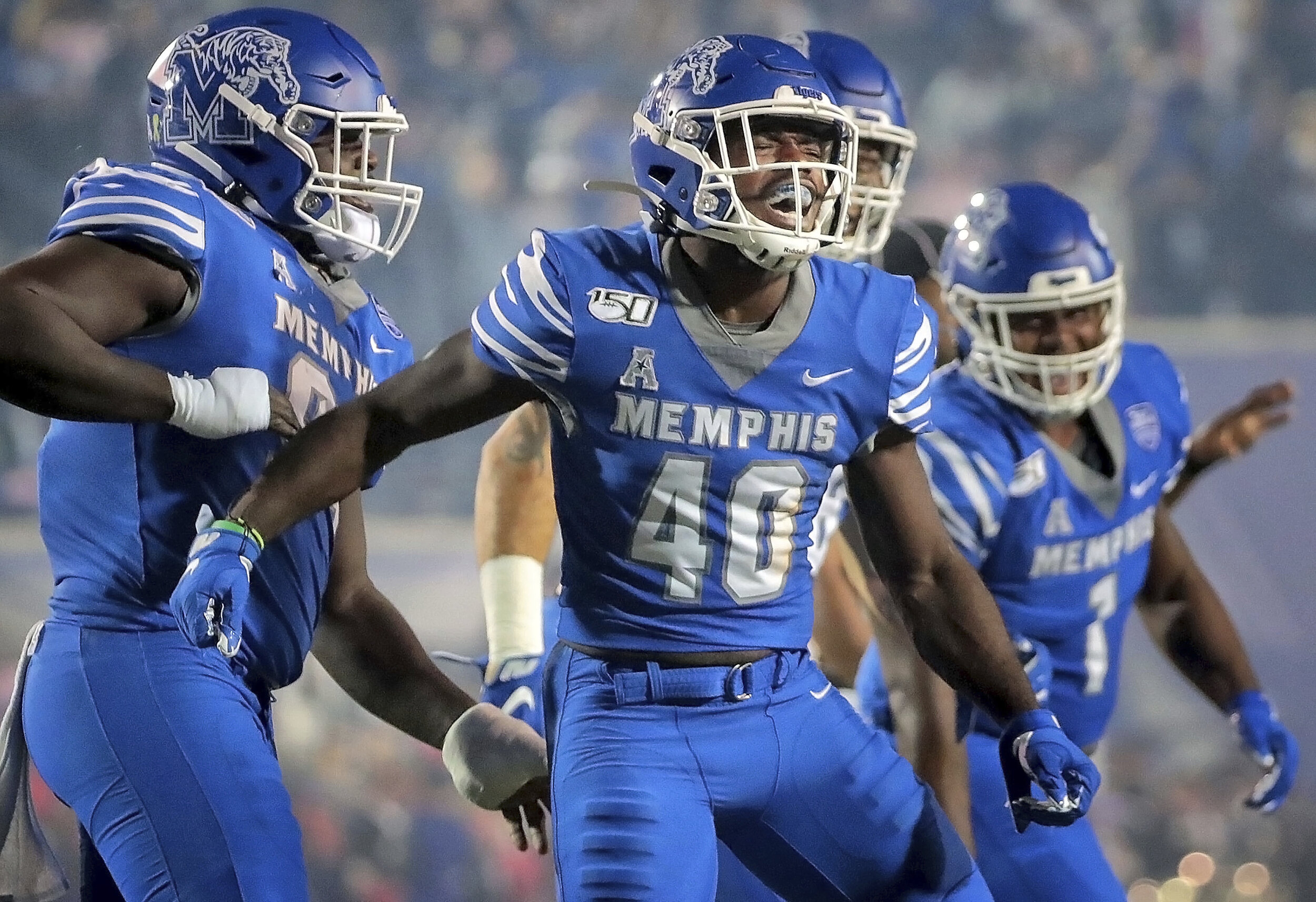 Memphis also moved to 6-1 on the season after racking up a huge 47-17 victory over Tulane.  Photo from the Associated Press.