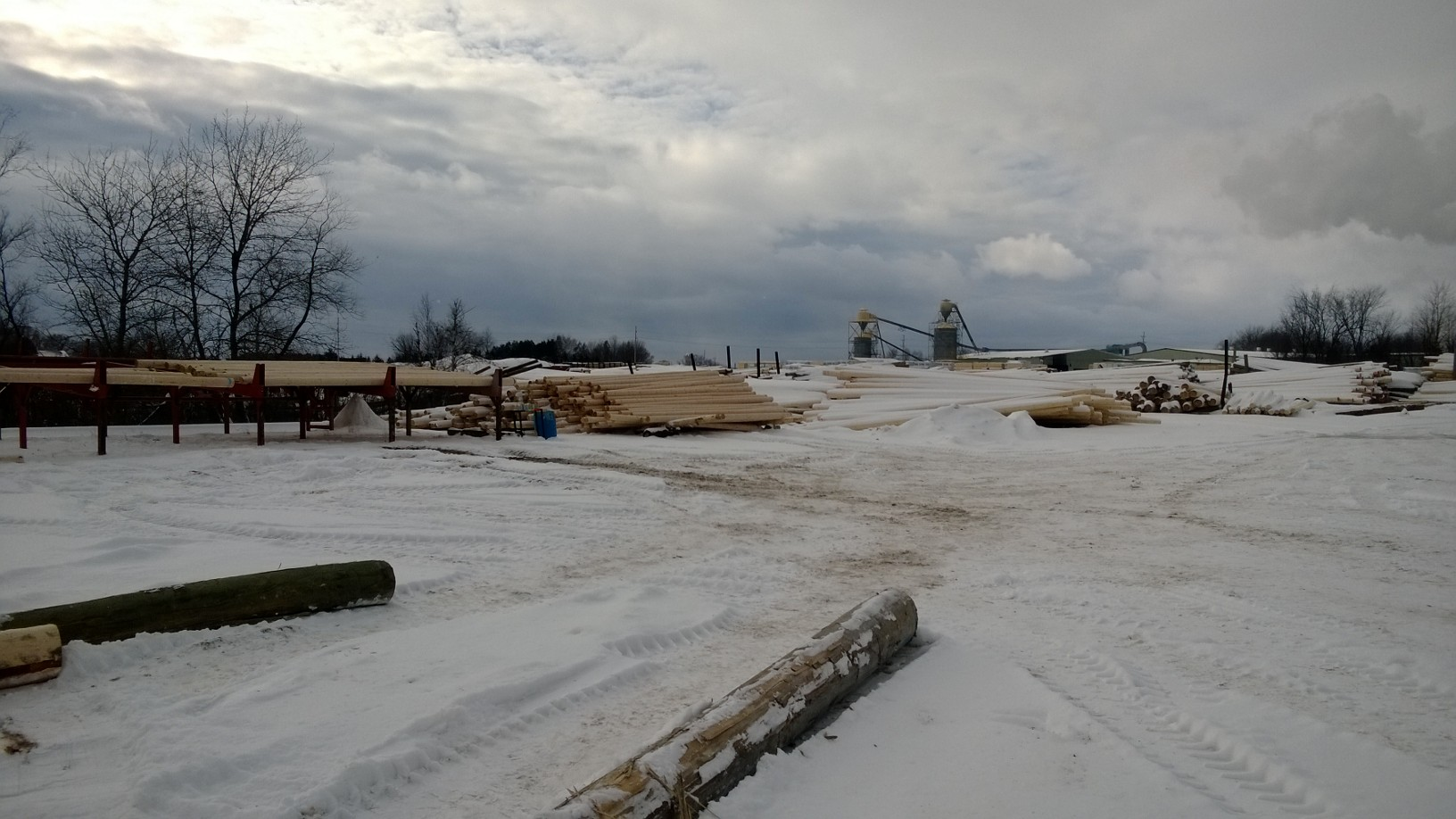 Hydrolake log yard in Cadillac, MI