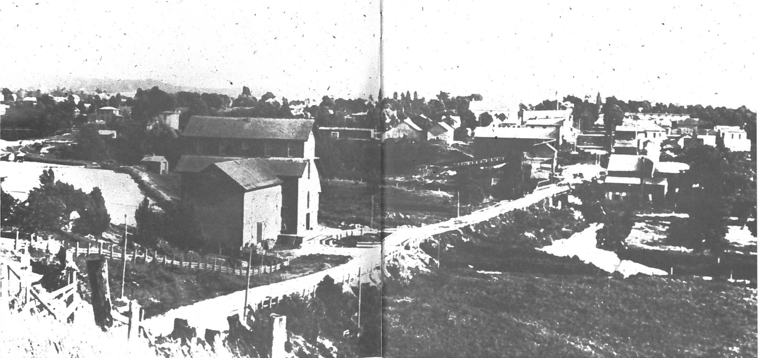 Hart, ca 1890, looking south from above present Hart Lake.