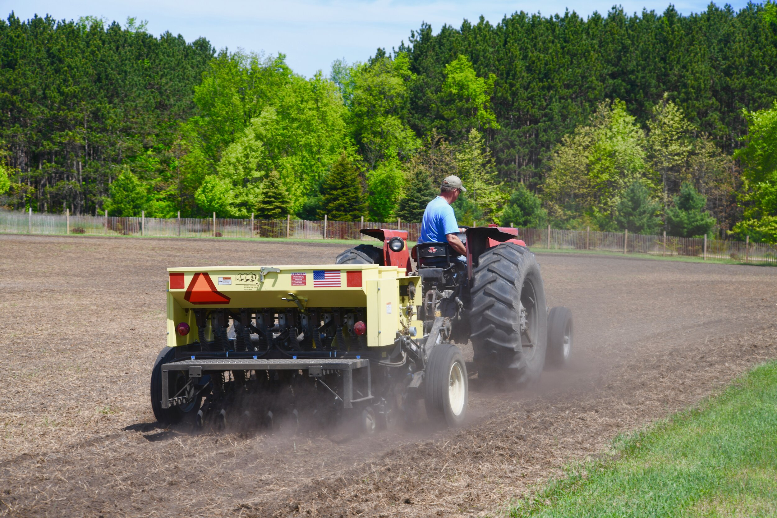 During Seed Installation - Calibration and seed depth placement is critical to the success of the planting.