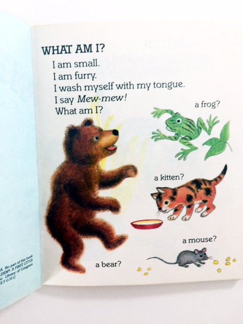 what am I? a little golden guessing game book for preschoolers