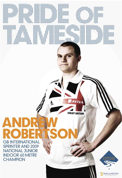 Commercial Portrait for Pride of Tameside campaign for Tameside College