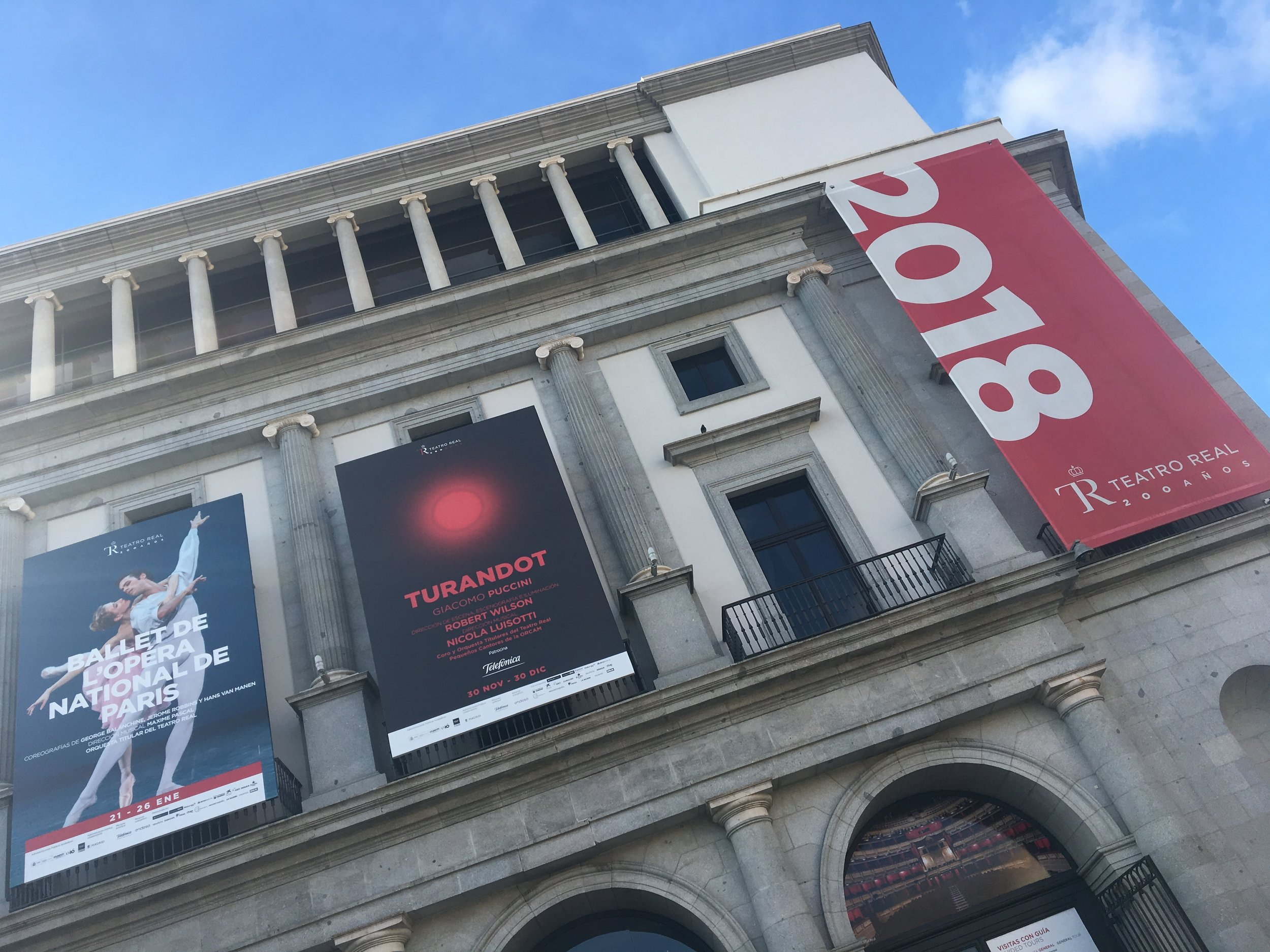 the day before Teatro Real Madrid