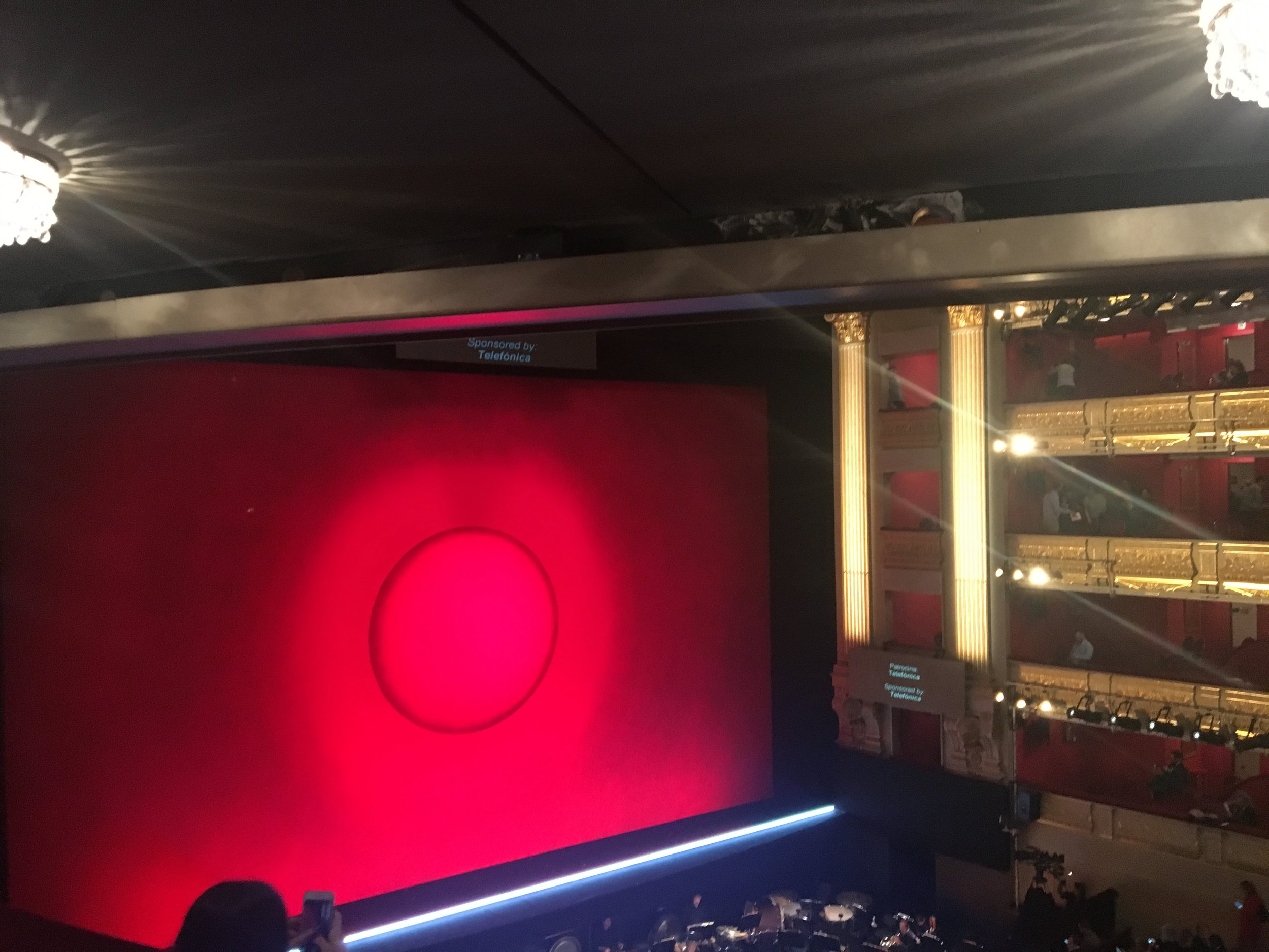 waiting for curtain up