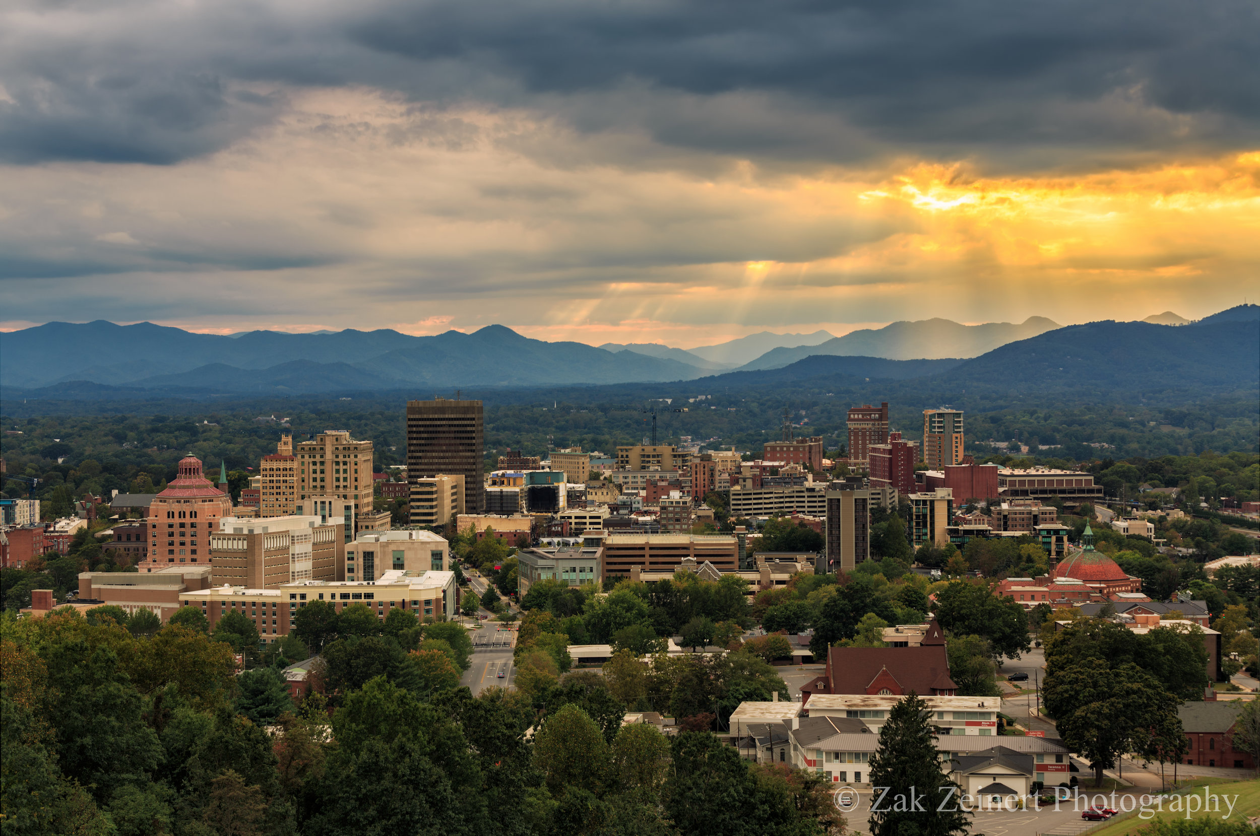 Asheville, North Carolina at Sunset