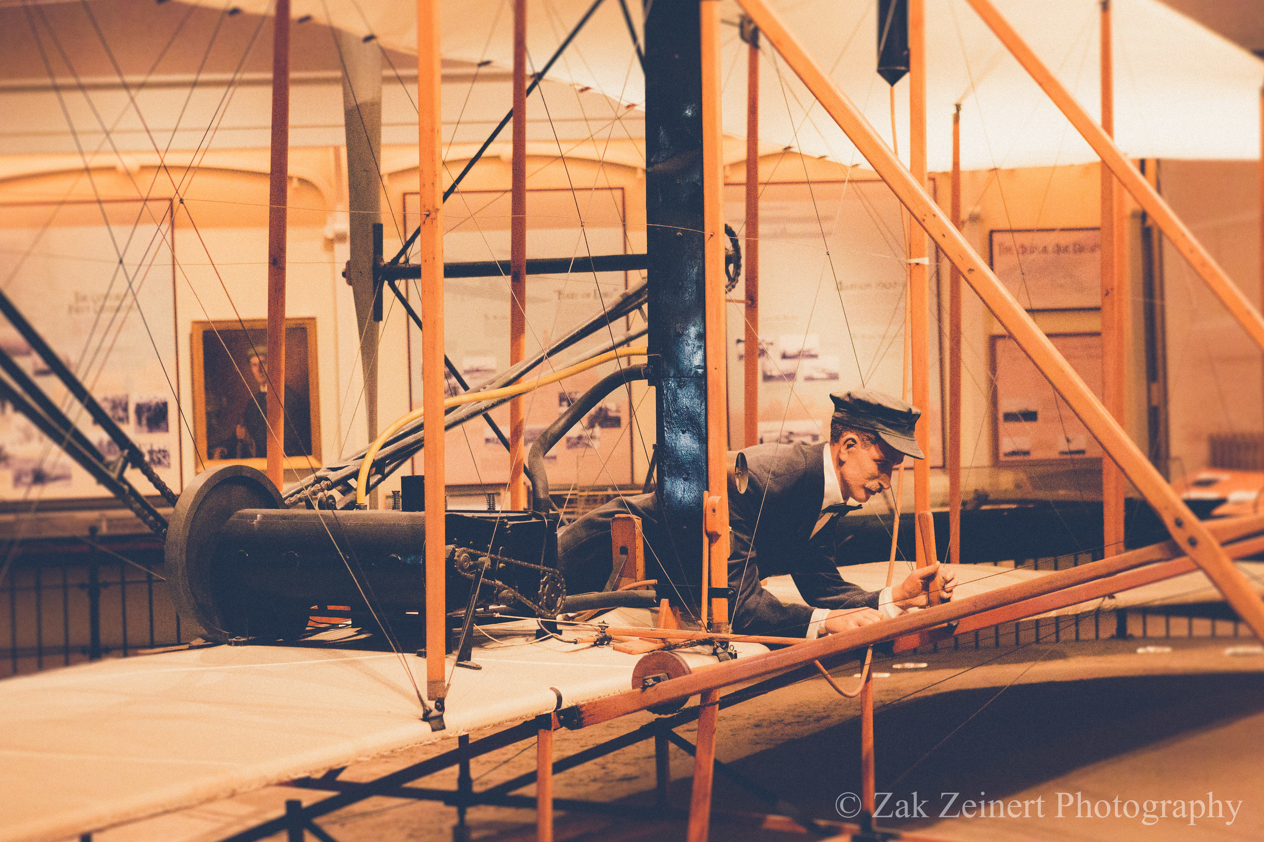 This is the actual Wright Flyer that was flown at Kitty Hawk. Pretty cool to see up close after having just visited Kitty Hawk a few weeks prior