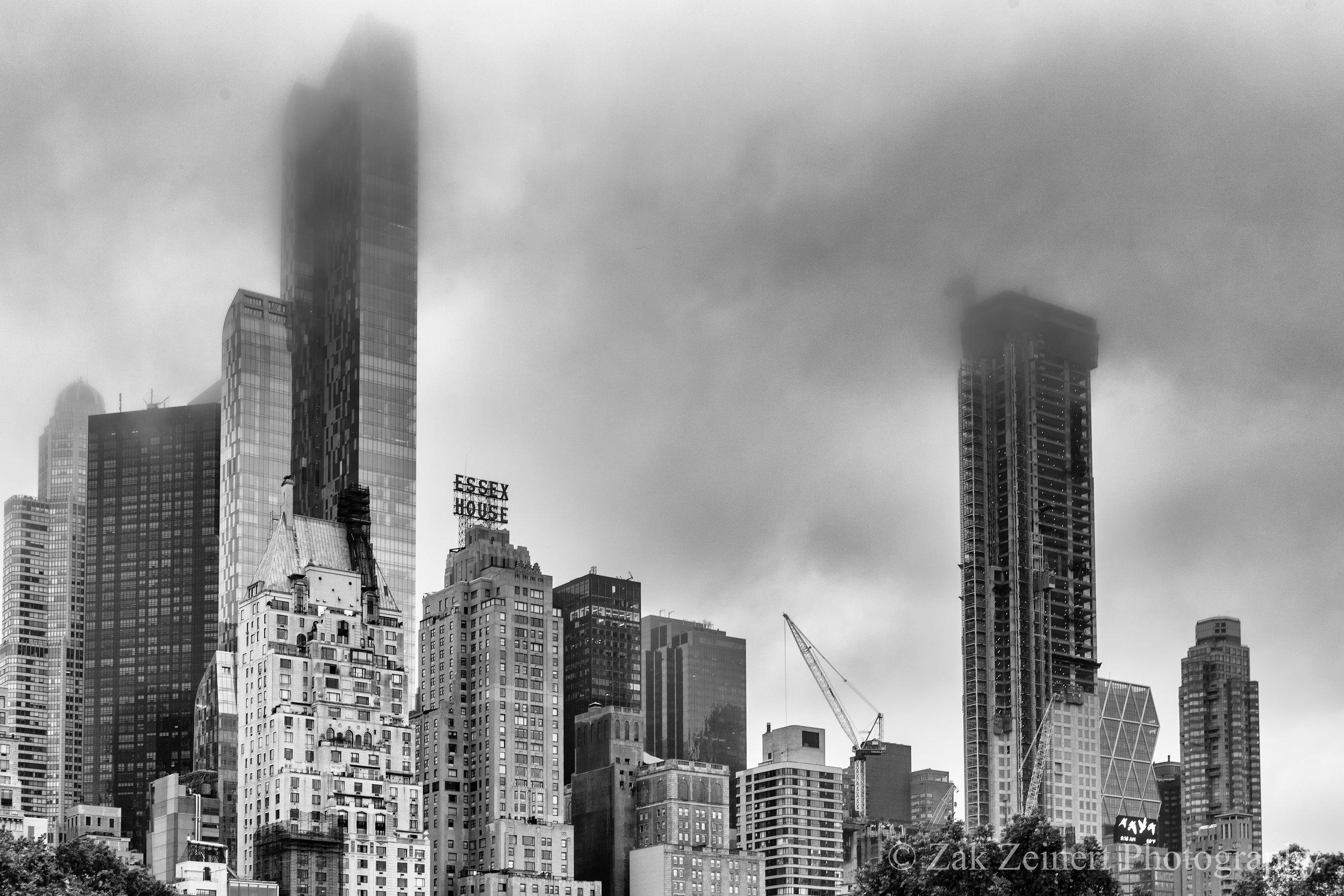 Dreary NYC skyline